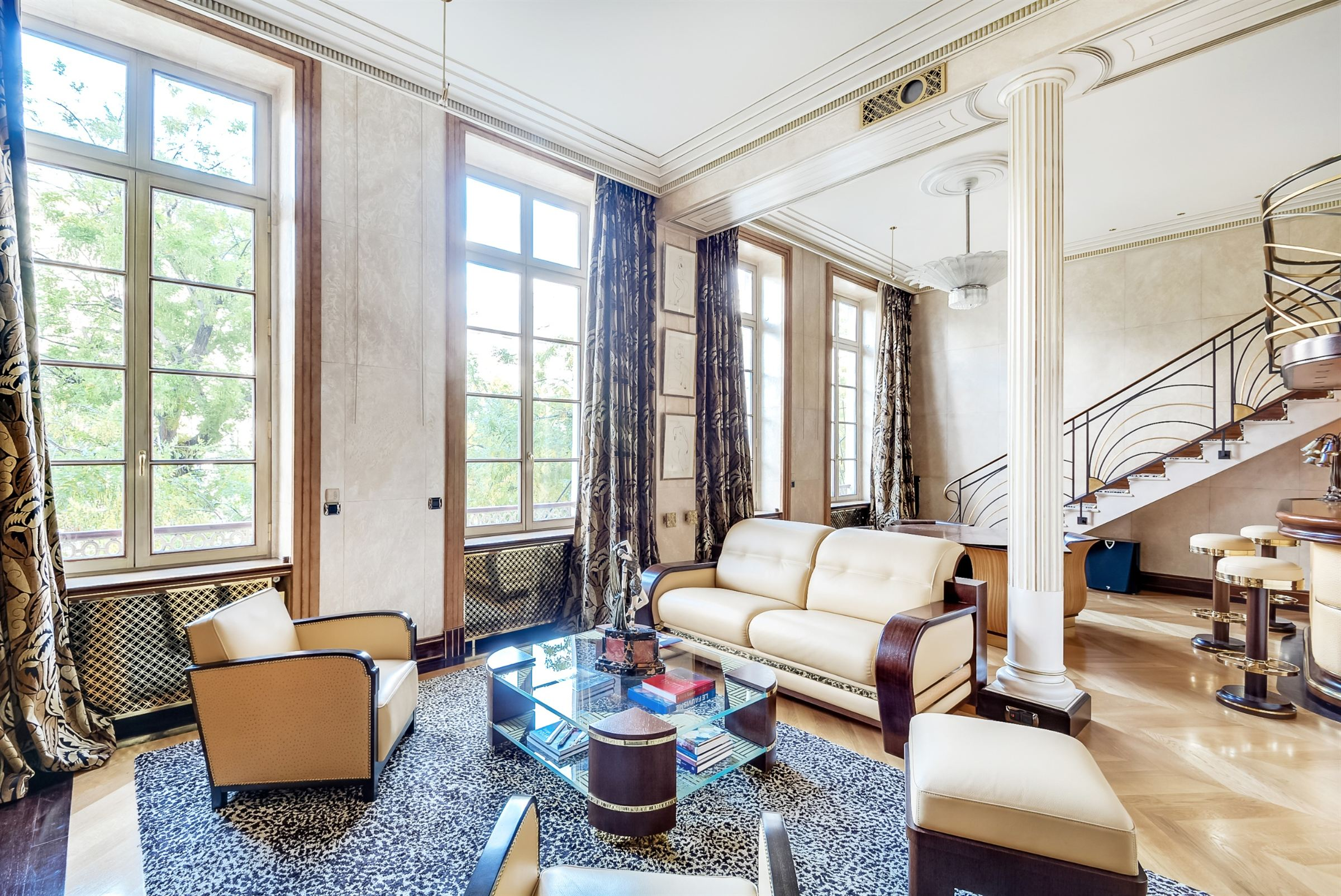 Property For Sale at Paris 14 - Montparnasse. Luxuruously renovated apartment of 142 sq.m. Unique.