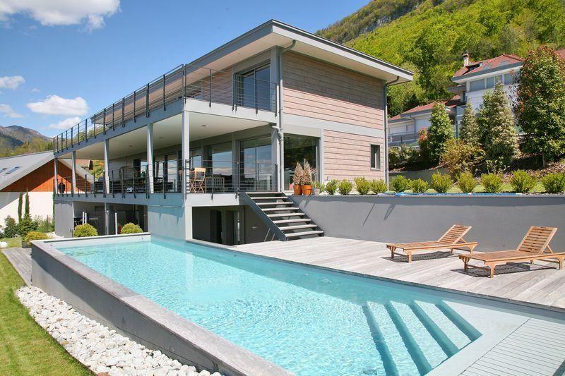 Moradia para Venda às Overlooking the lake, ultracontemporary high-tech property Talloires, Rhone-Alpes, 74290 França