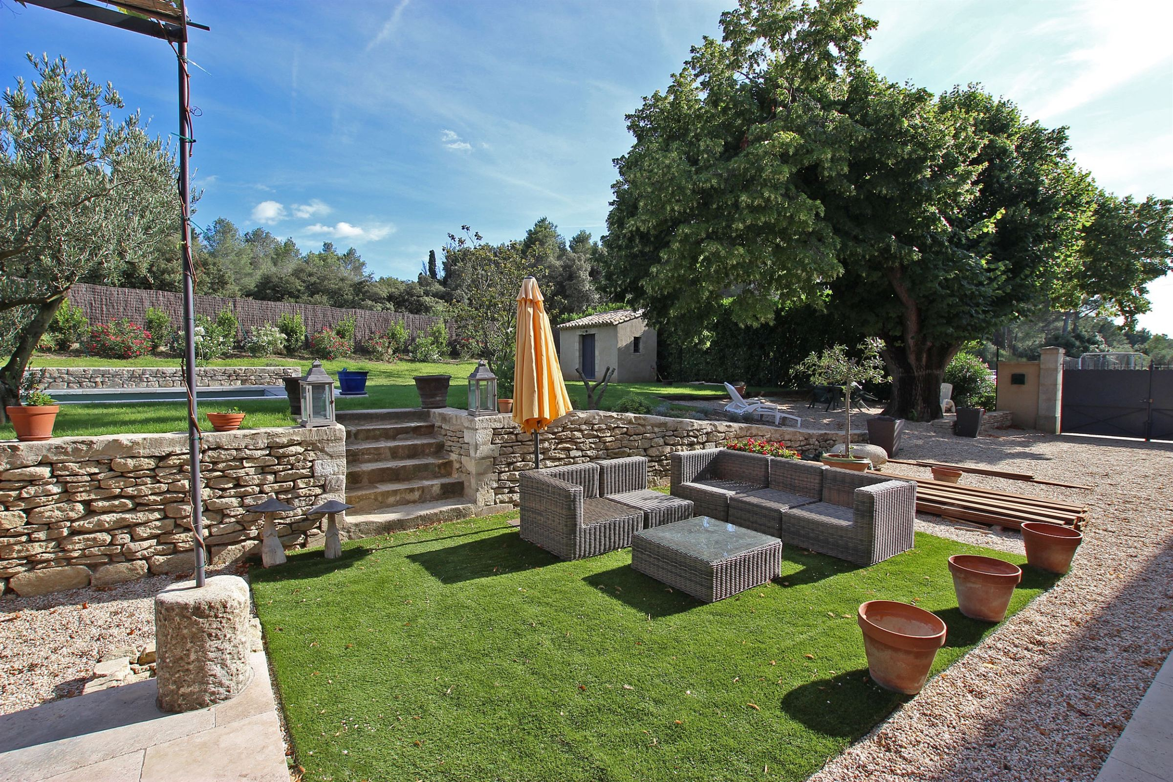 """rentals property at Renovated """"Mas"""" overviewing the Alpilles in St Remy de Provence"""