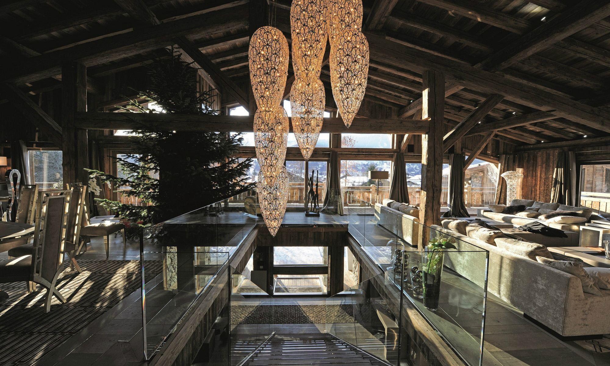 Property For Sale at Megève Centre village Chalet Ecrin Blanc
