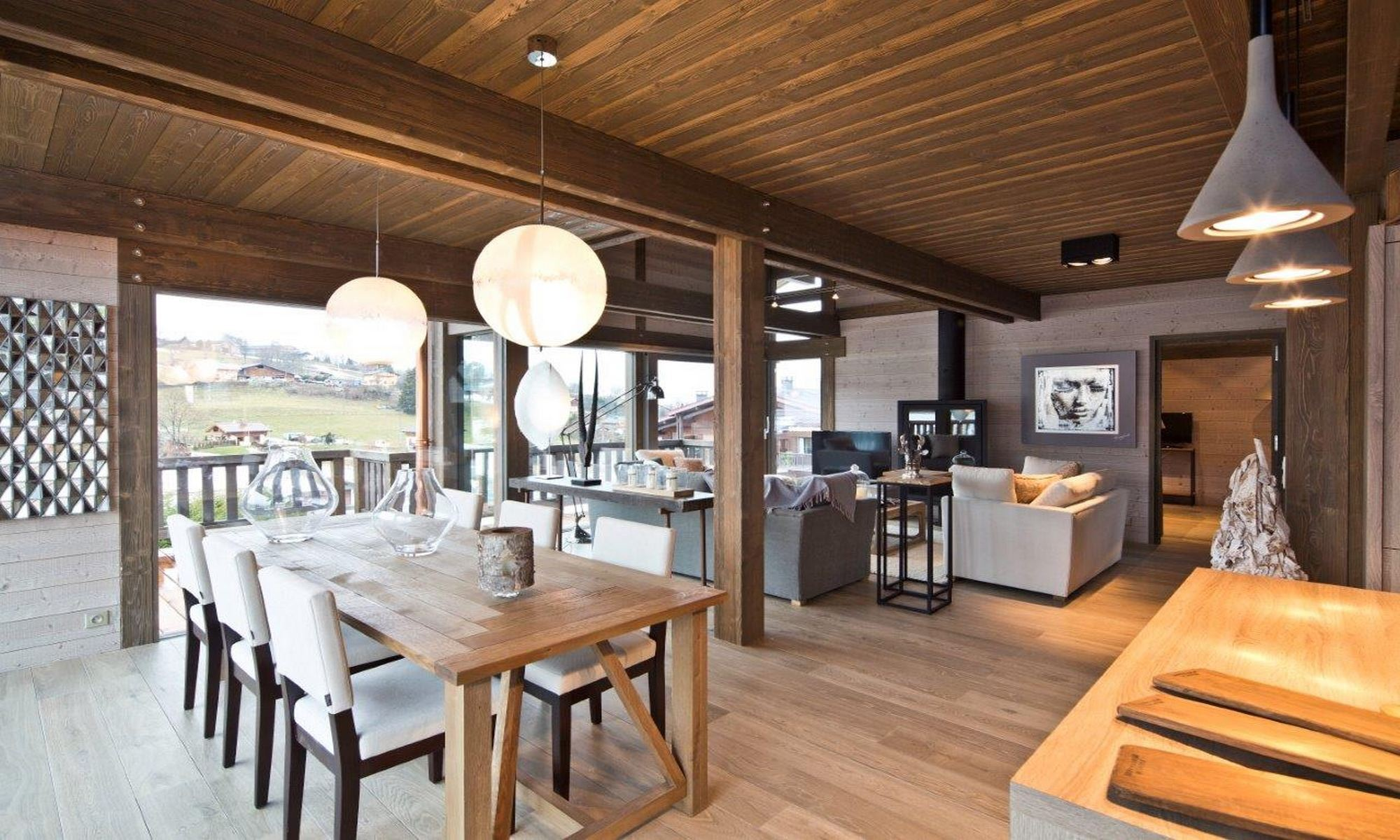 Single Family Home for Sale at Megève Demi Quartier Chalet Ebene Megeve, Rhone-Alpes, 74120 France