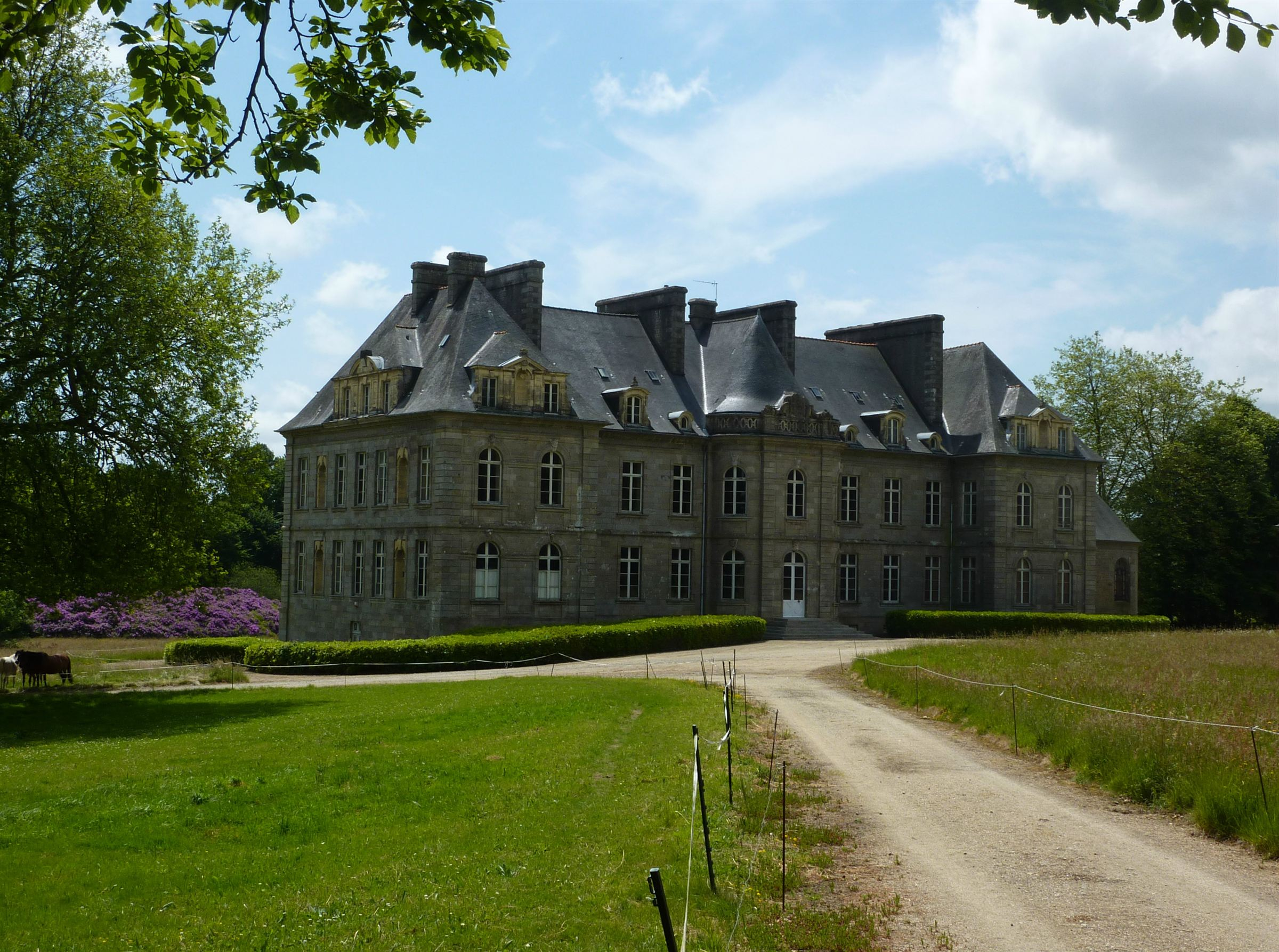 sales property at Listed 18th century Castle for sale in Brittany set on 115 hectares