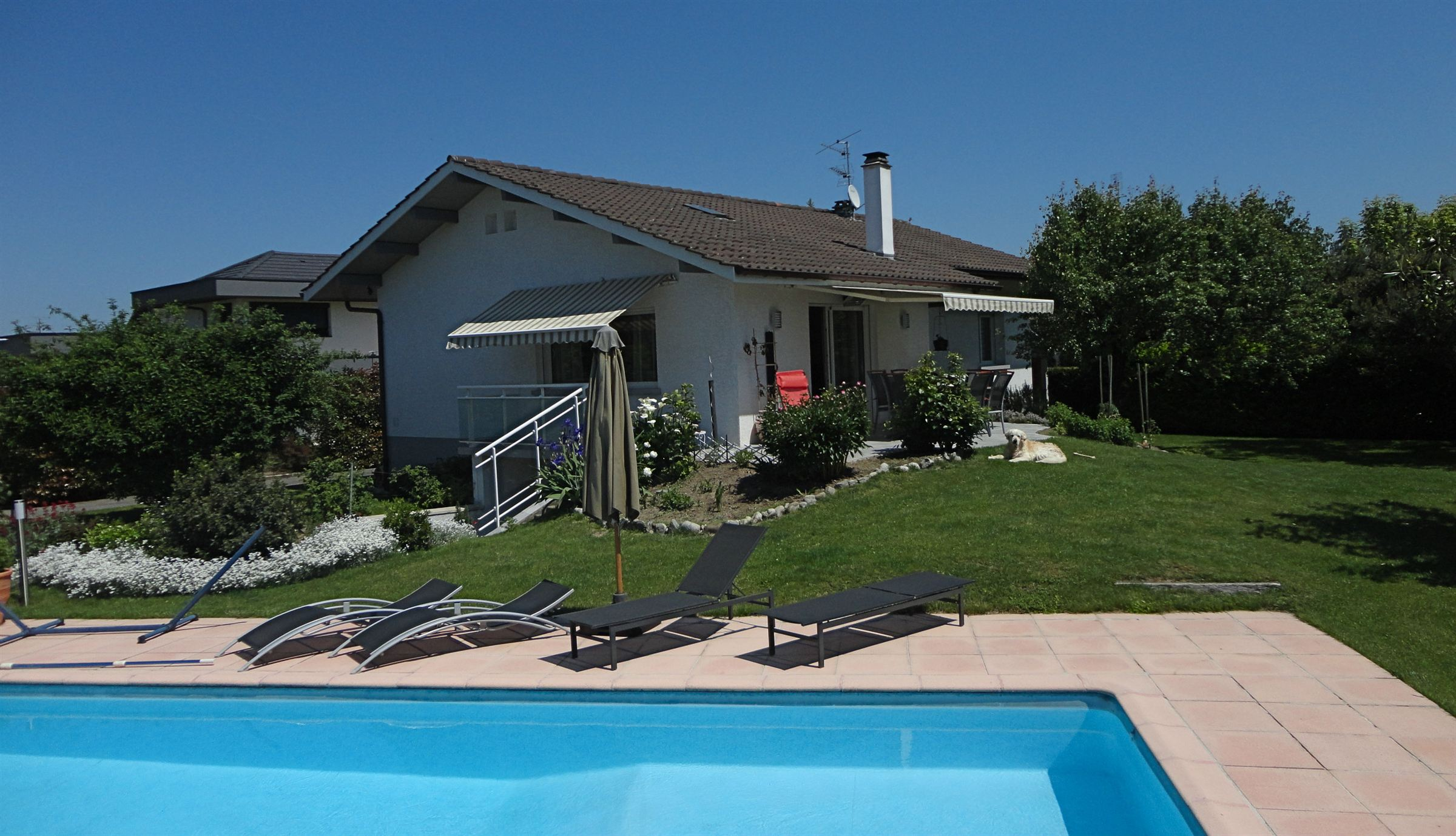 Single Family Home for Sale at Amphion les Bains, house with sauna and swimming pool. Publier, Rhone-Alpes 74500 France