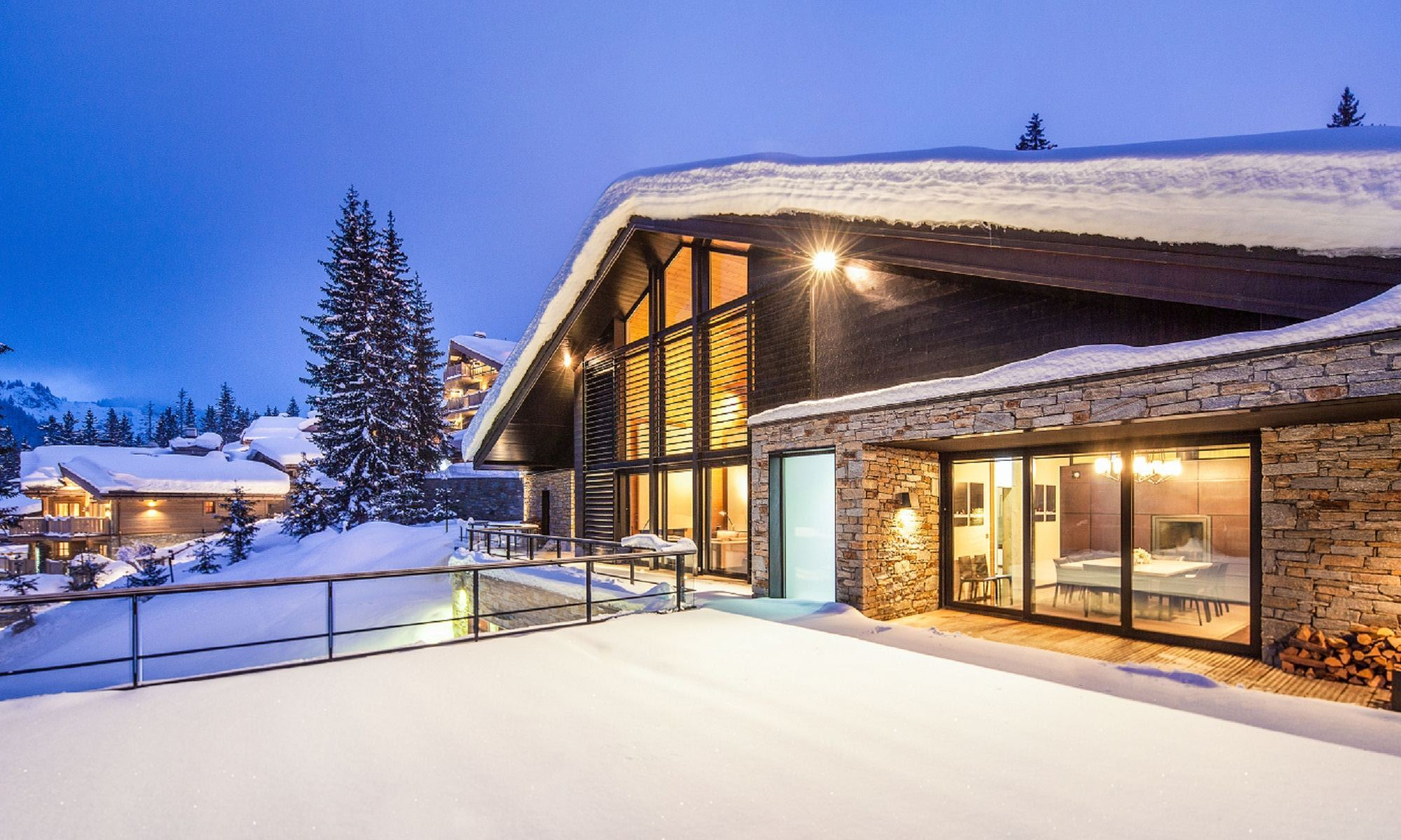 Villa per Affitto alle ore Luxury chalet for rent Courchevel Greystone Courchevel, Rodano-Alpi, 73120 Francia