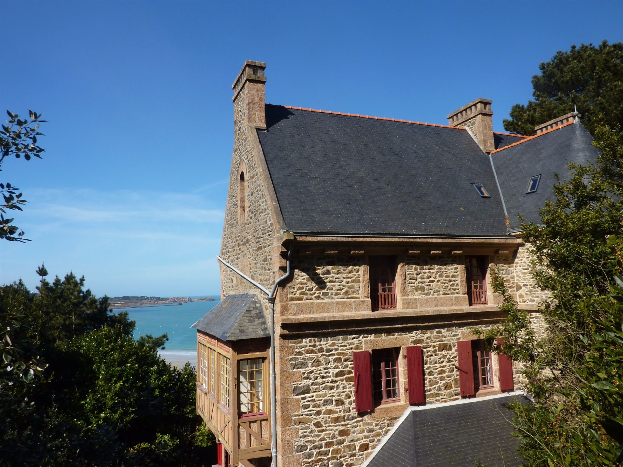 sales property at Magnificent sea view villa with heated pool in Perros Guirec