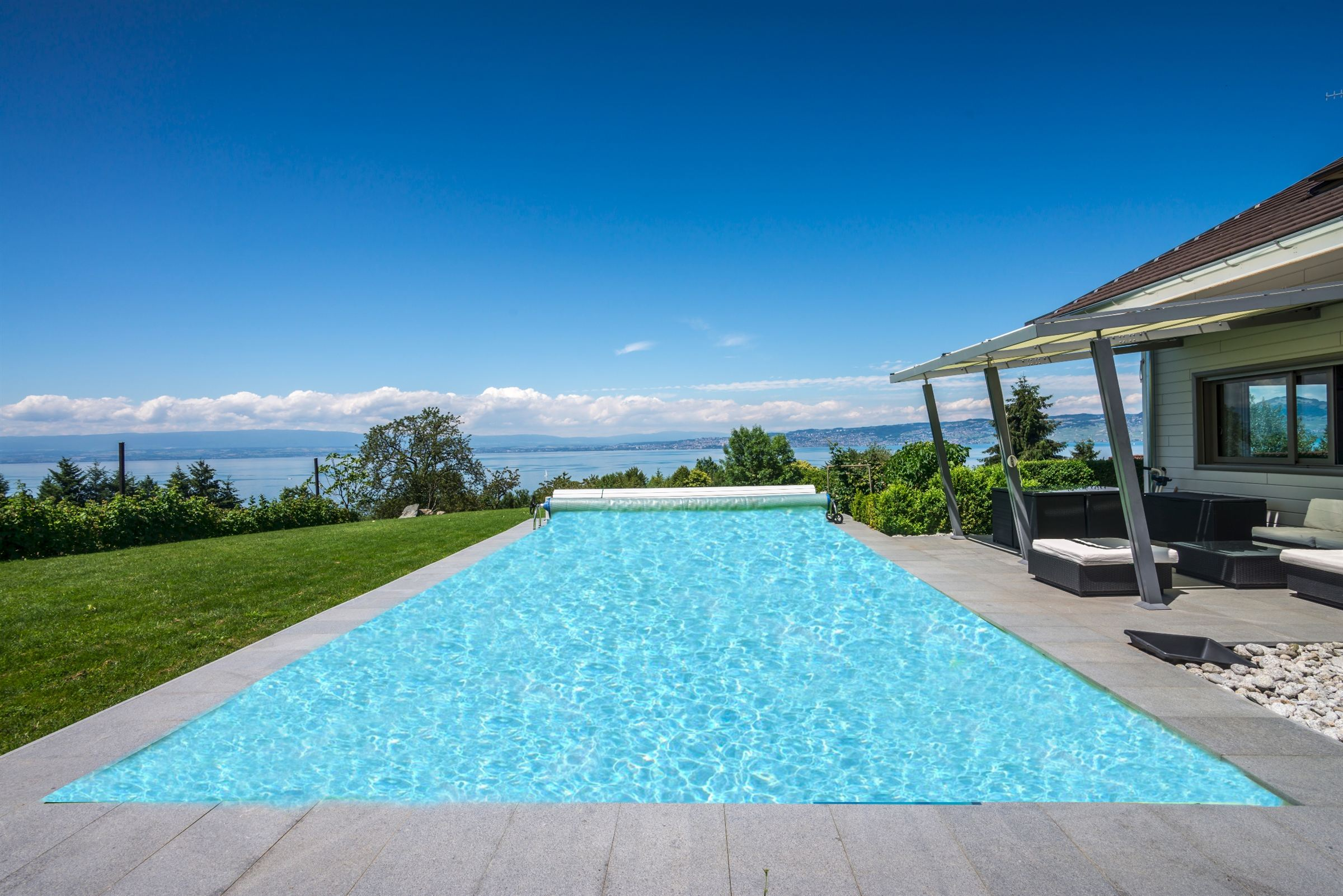 Single Family Home for Sale at LUGRIN MODERN HOUSE WITH VIEW ON THE LAKE Lugrin, Rhone-Alpes, 74500 France