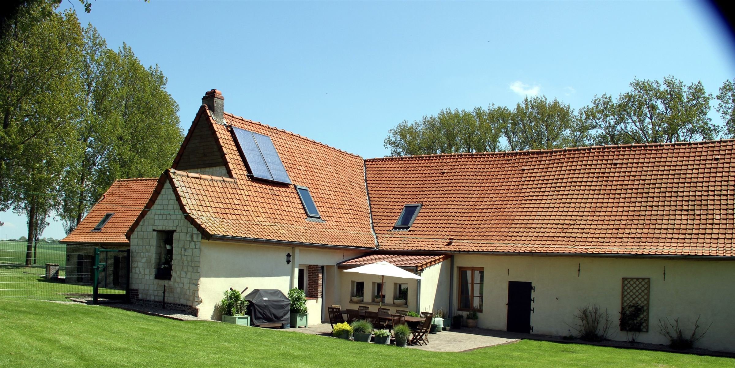 sales property at In the Countryside of HESDIN: Restored Farmhouse on a 2Ha plot.