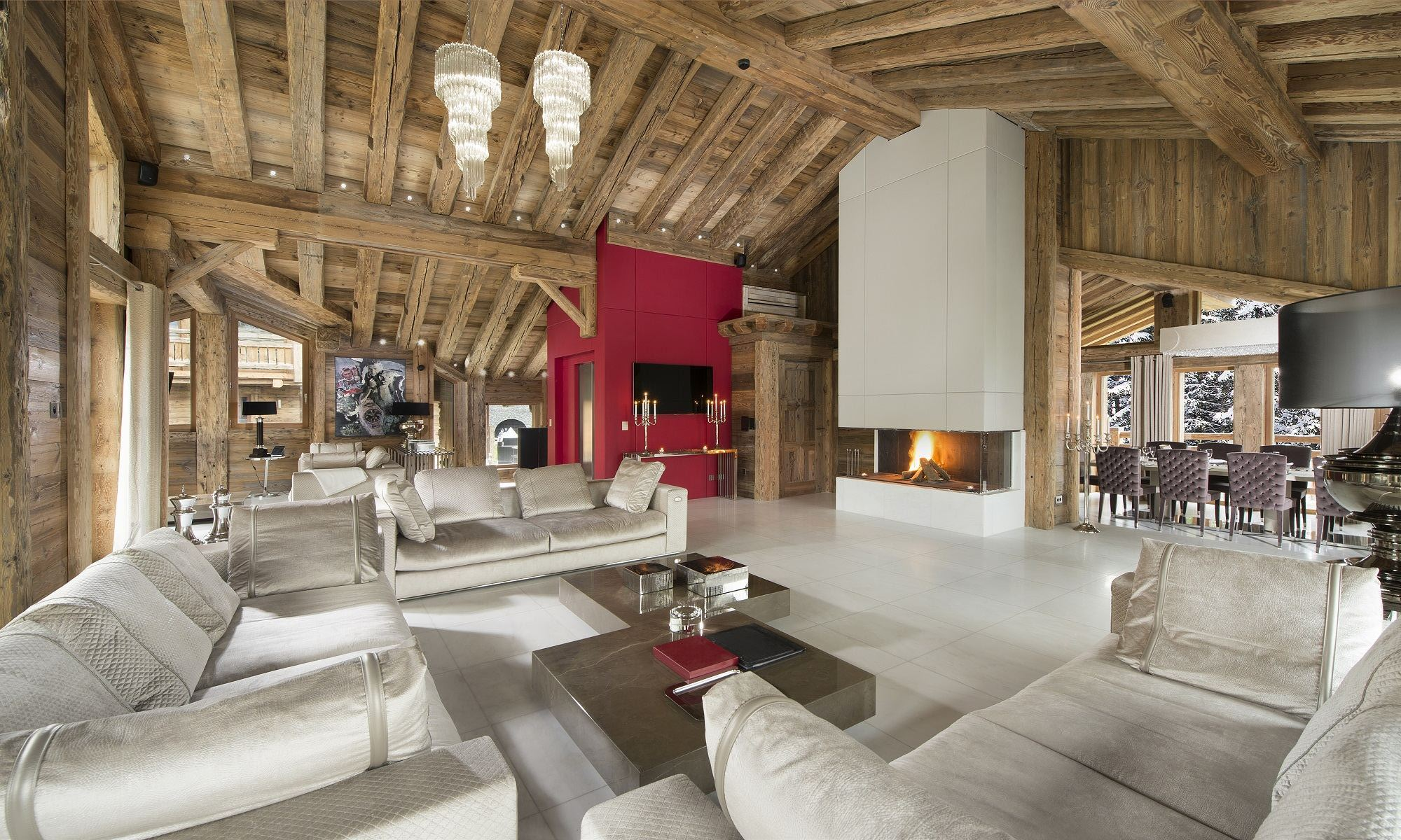 Villa per Affitto alle ore Luxury Chalet for rent Courchevel 1850 Owens Courchevel, Rodano-Alpi, 73120 Francia