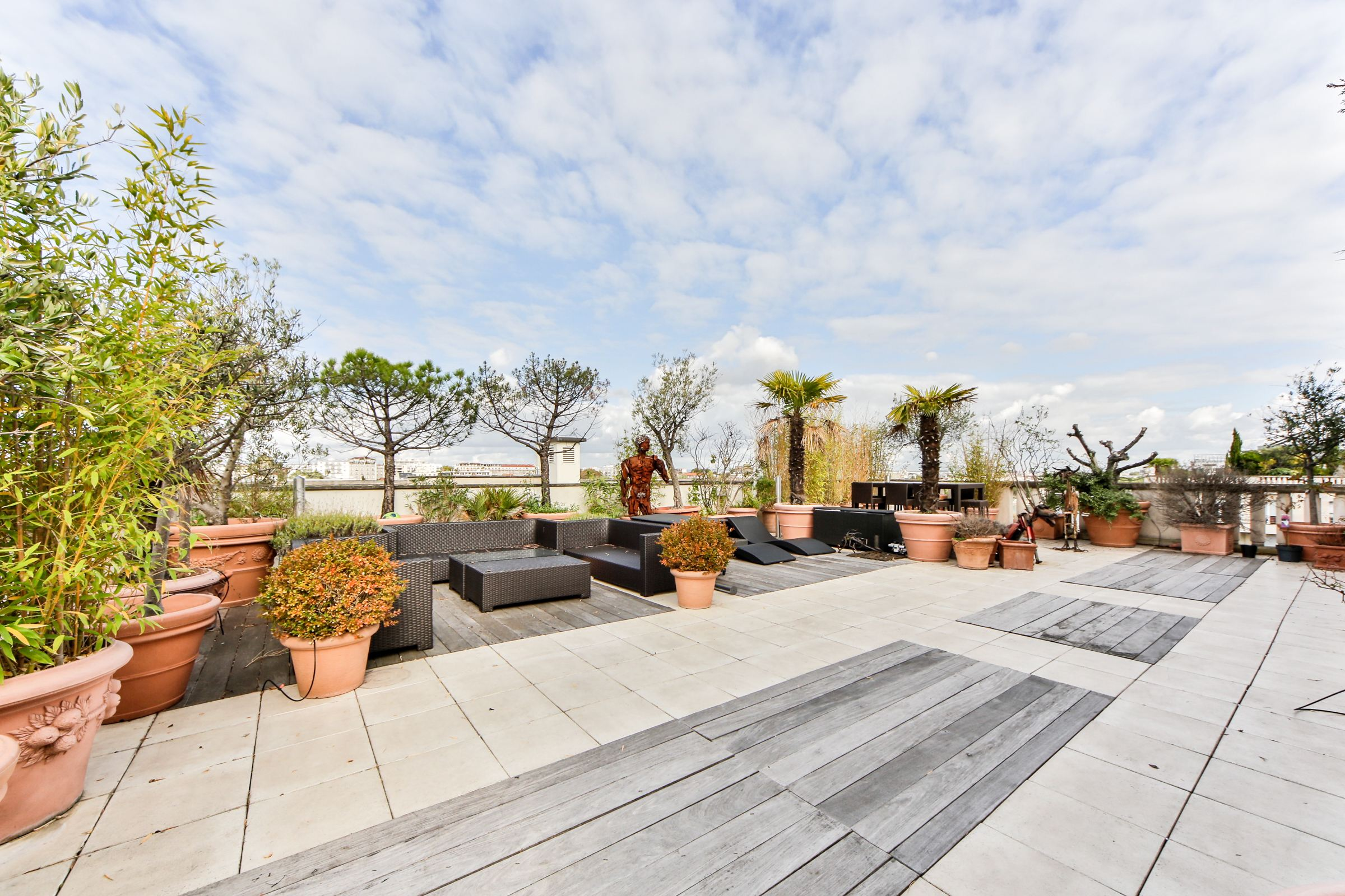 Property For Sale at Levallois - Greffulhe. A 160 sq.m Penthouse + a 350 sq.m terraces.