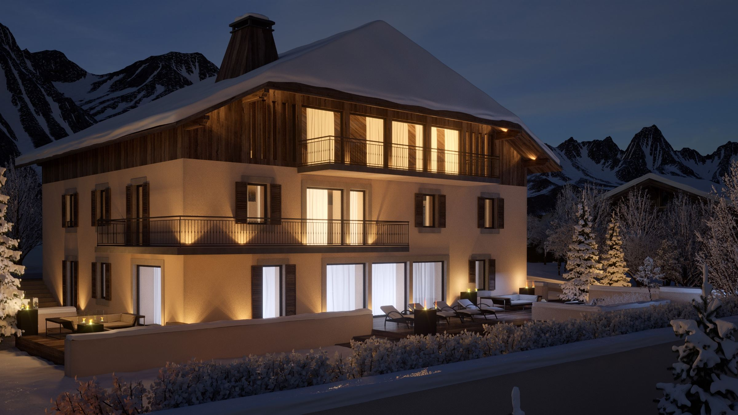 Single Family Home for Sale at High luxury farmhouse close to the centre Chamonix Mont Blanc, Rhone-Alpes, 74400 France