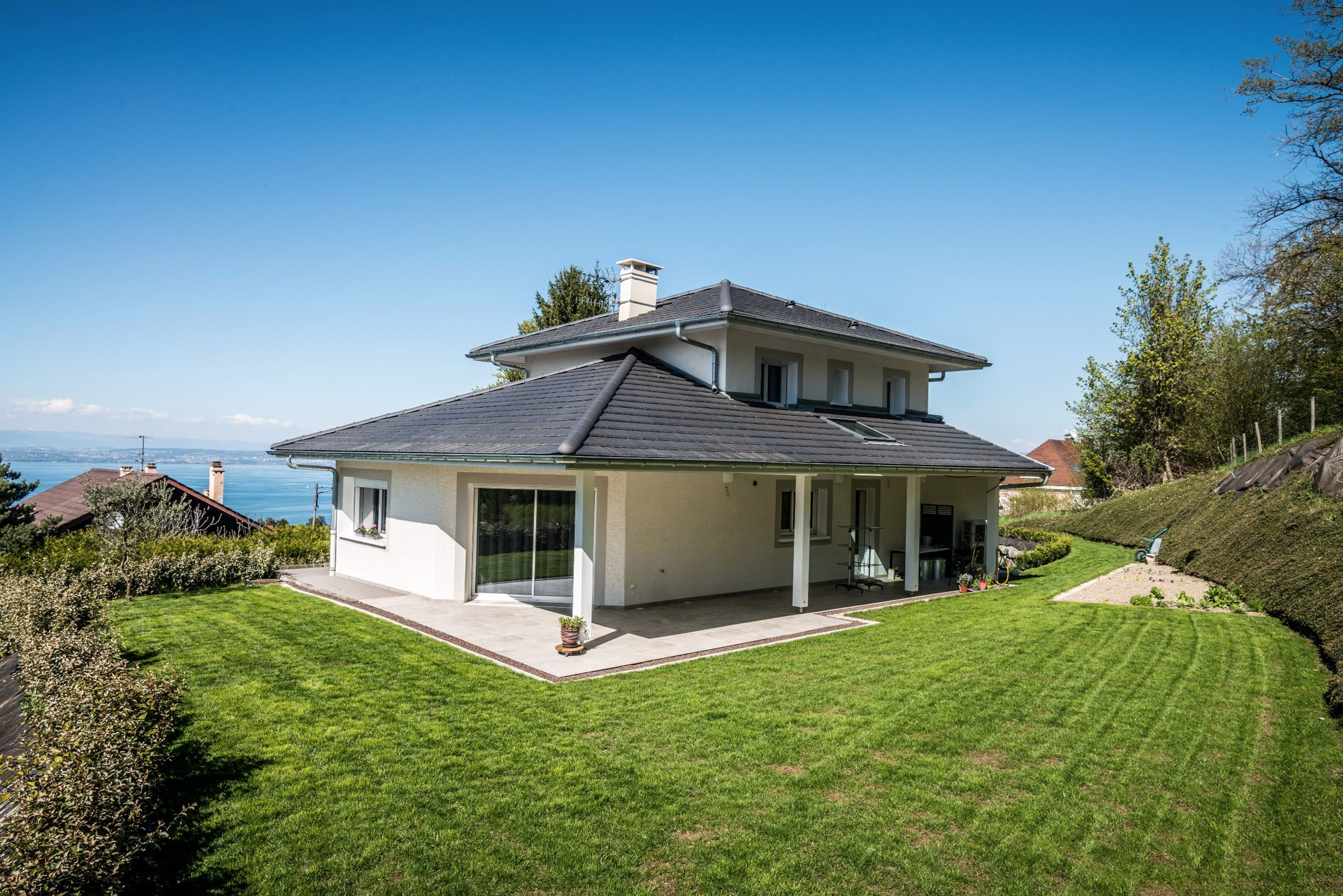Single Family Home for Sale at NEAR EVIAN 136 M2 HAB VIEW ON THE LAKE Publier, Rhone-Alpes, 74500 France