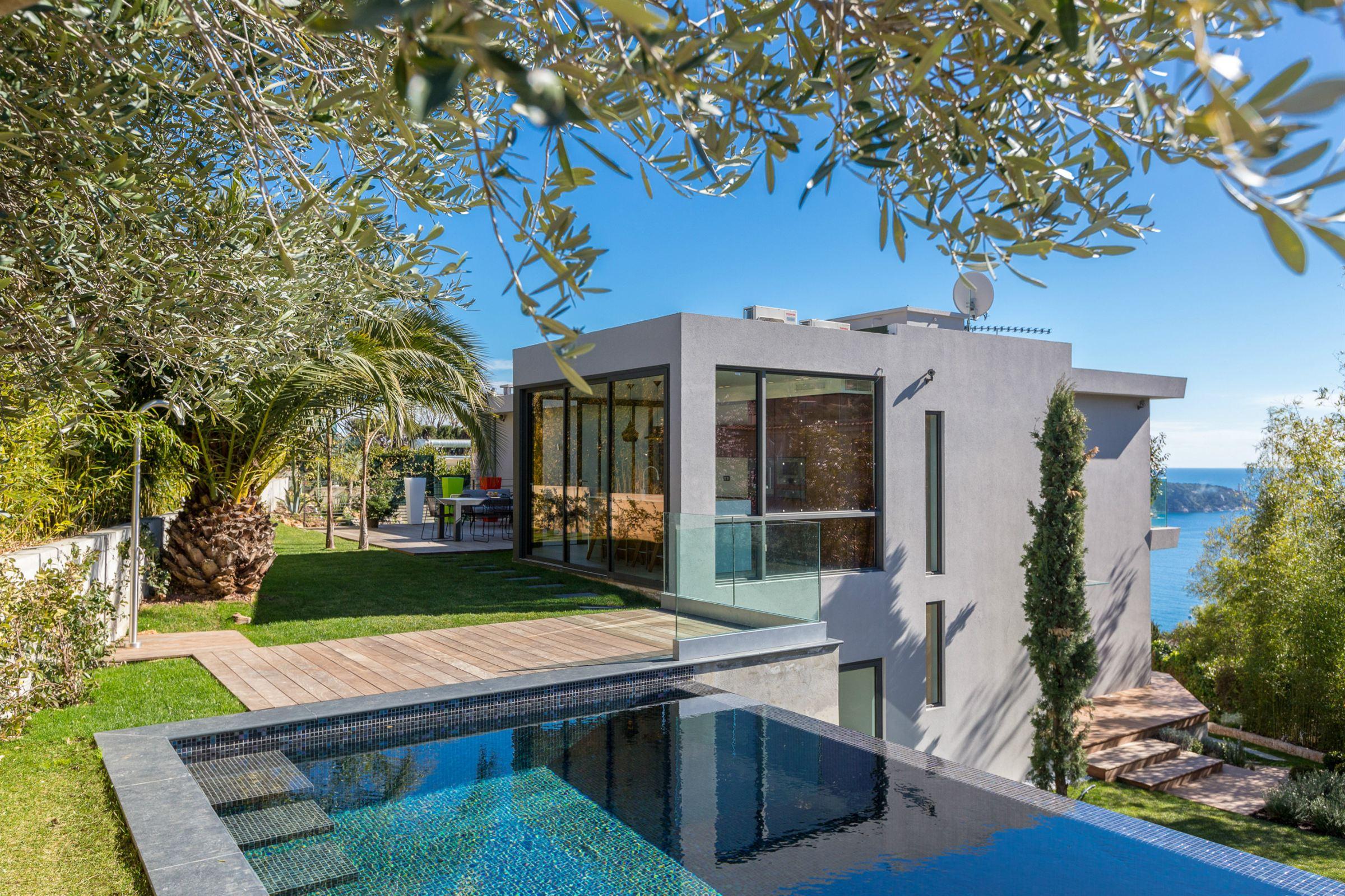 단독 가정 주택 용 매매 에 Superb contemporary project for sale with panoramic sea views Villefranche Sur Mer, 프로벤스 앞ㄹ프스 코테 D'Azur 06230 프랑스