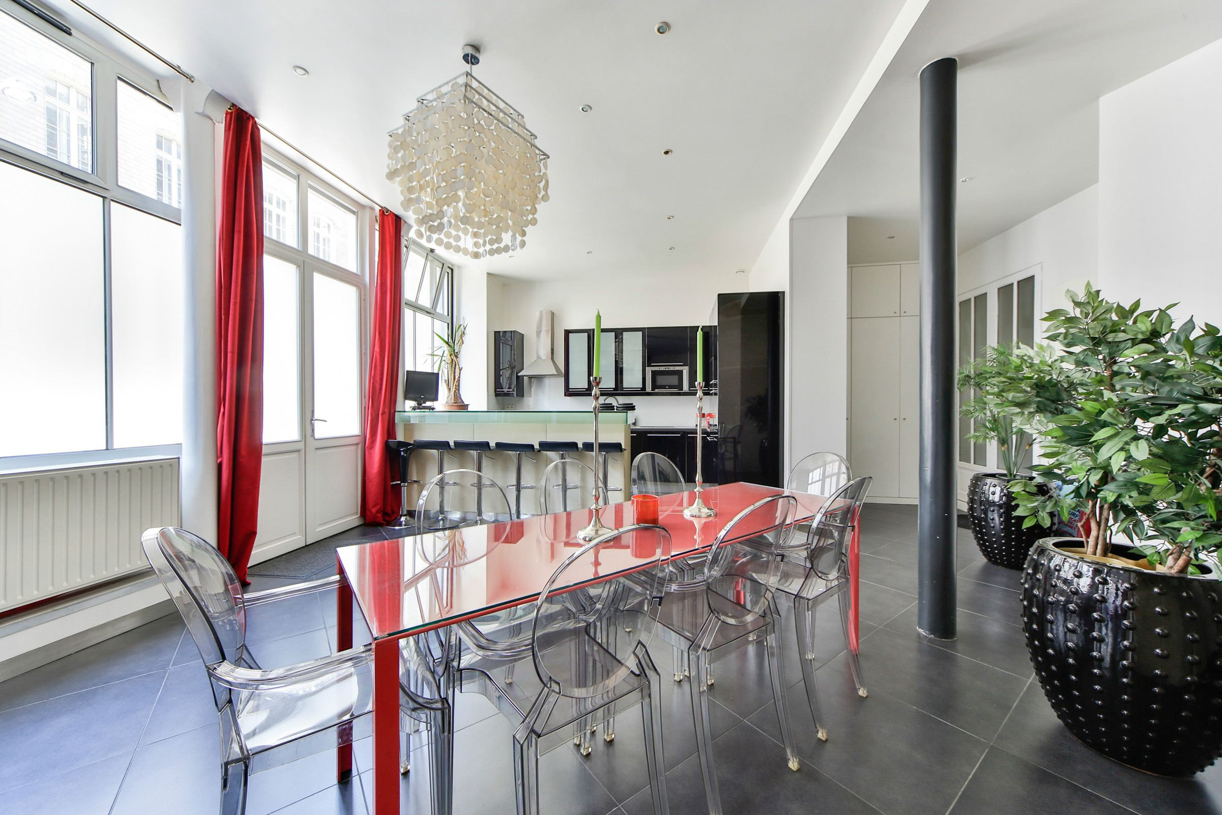 Property For Sale at Paris 8 - St-Augustin. Apartment Loft style renovated by architect.