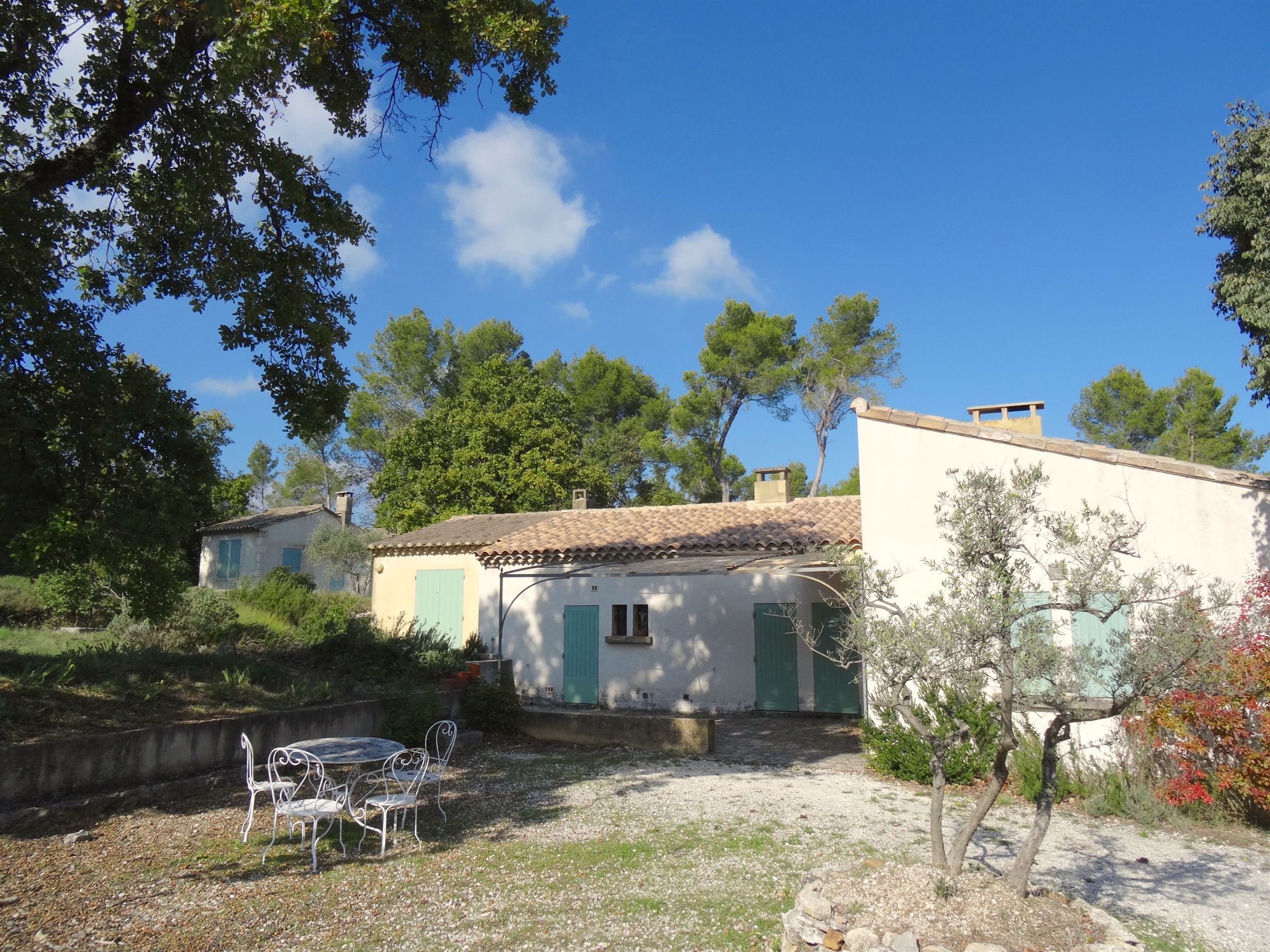 sales property at A plot of 5 acres with a view of the alpille close to the town center