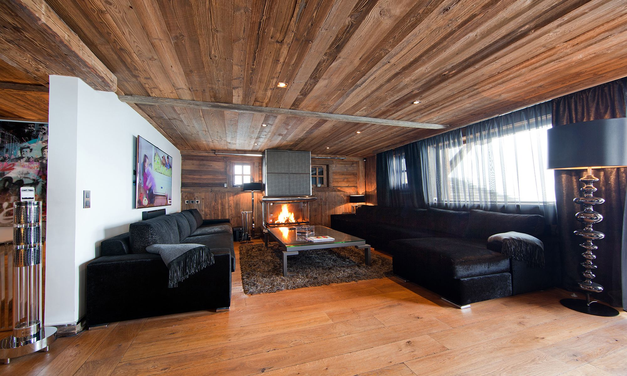 Single Family Home for Sale at Megève Jaillet Luxury Chalet Tigre Blanc Megeve, Rhone-Alpes 74120 France