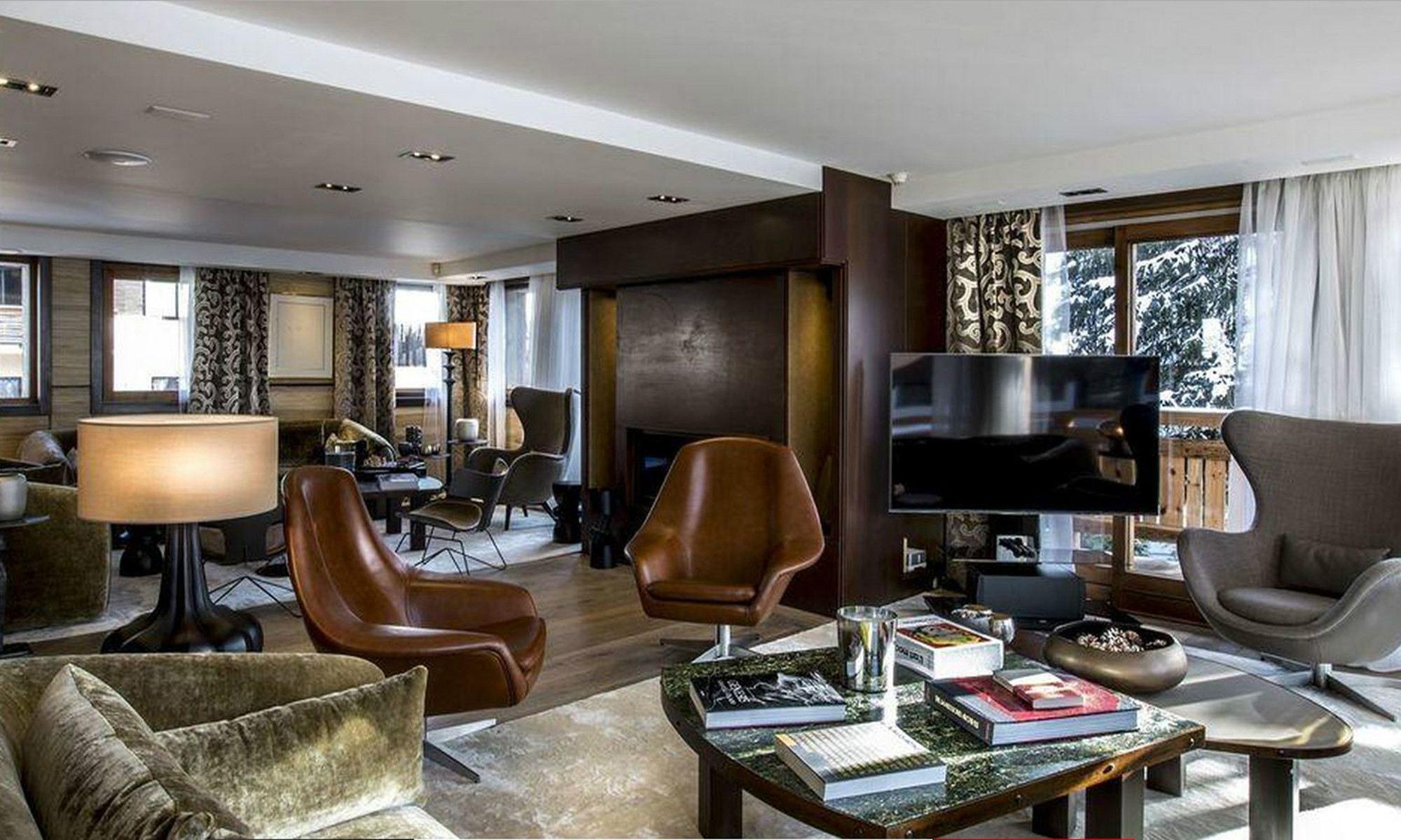 Property For Sale at Megève Village center Luxury Chalet Velours