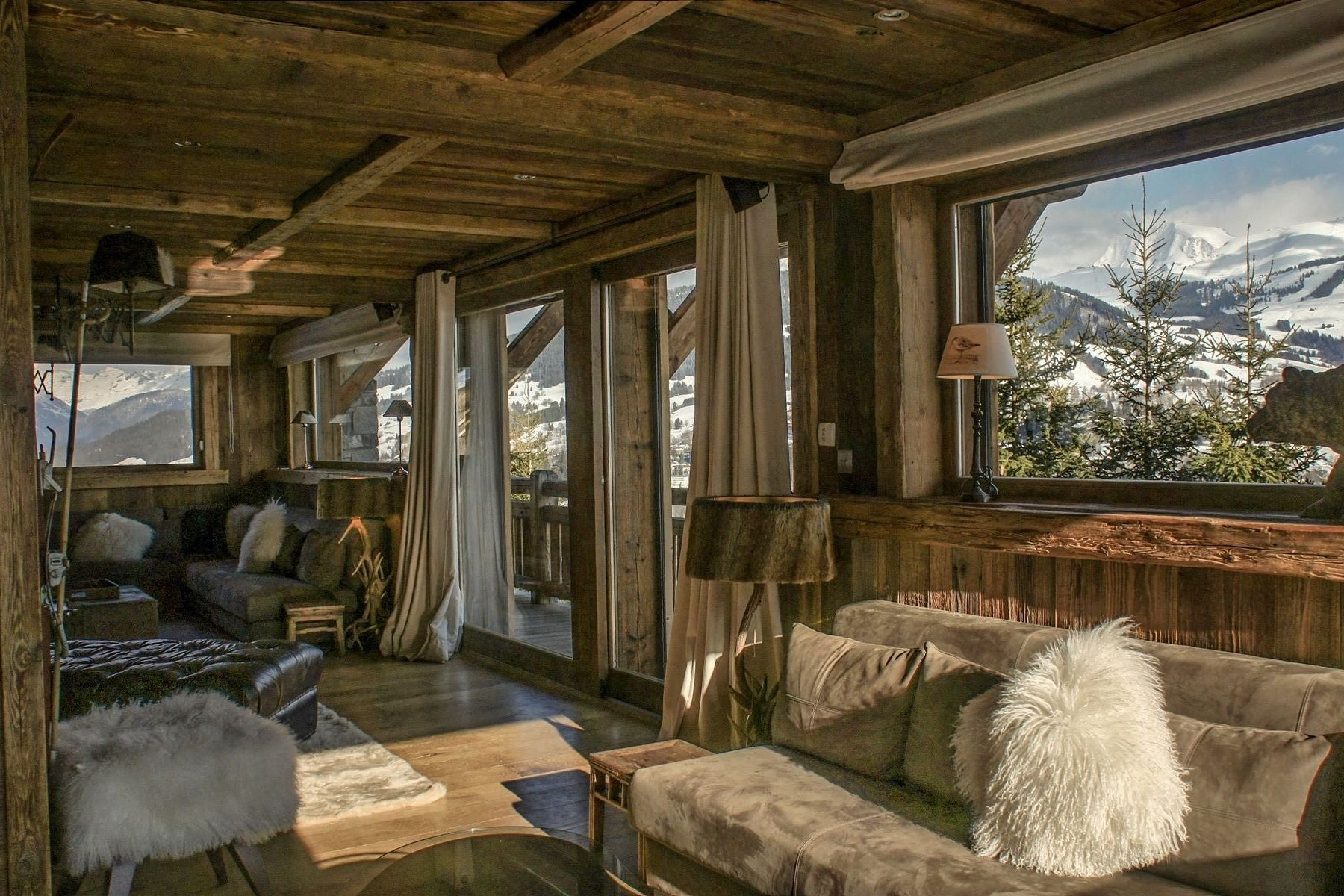 single family homes for Sale at Chalet Come : wonderful chalet with panoramic view in Mont blanc - Alpine Megeve, Rhone-Alpes 74120 France