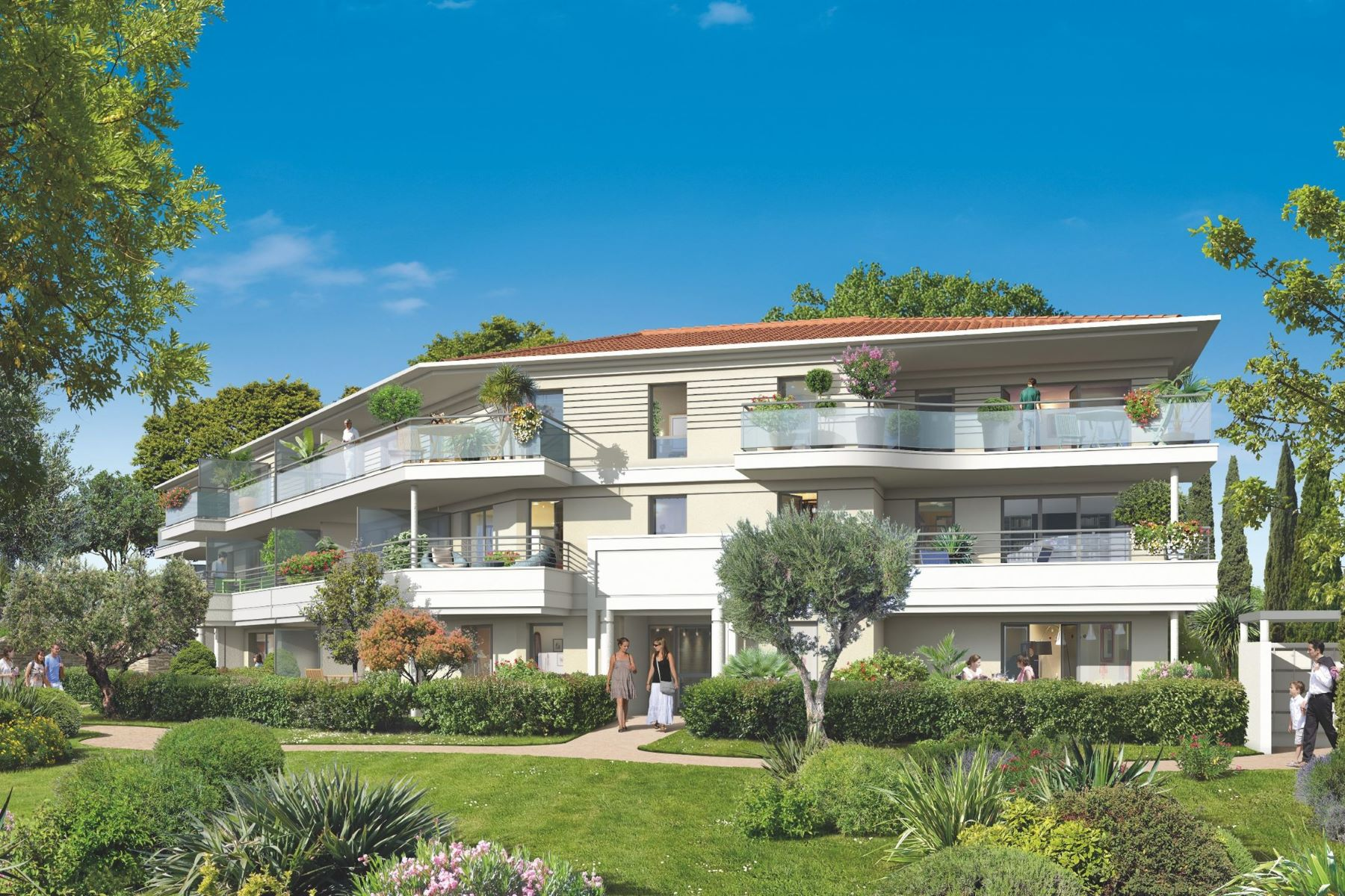 "Appartement pour l à vendre à 3 bedroom apartment - ""Parc Bellevue"" - New residence - sea view Roquebrune Cap Martin, Provence-Alpes-Cote D'Azur, 06190 France"