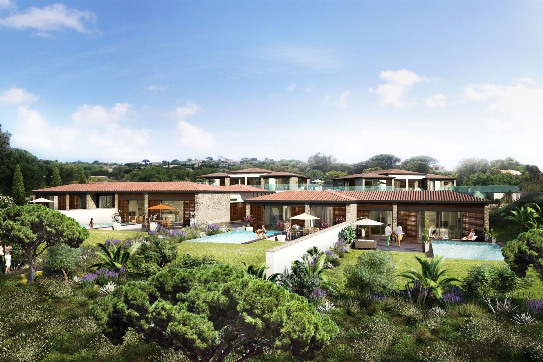 Single Family Homes 為 出售 在 Villas Indygo: a prestigious domaine at the gateway to Saint Tropez Gassin, 普羅旺斯阿爾卑斯藍色海岸 83580 法國