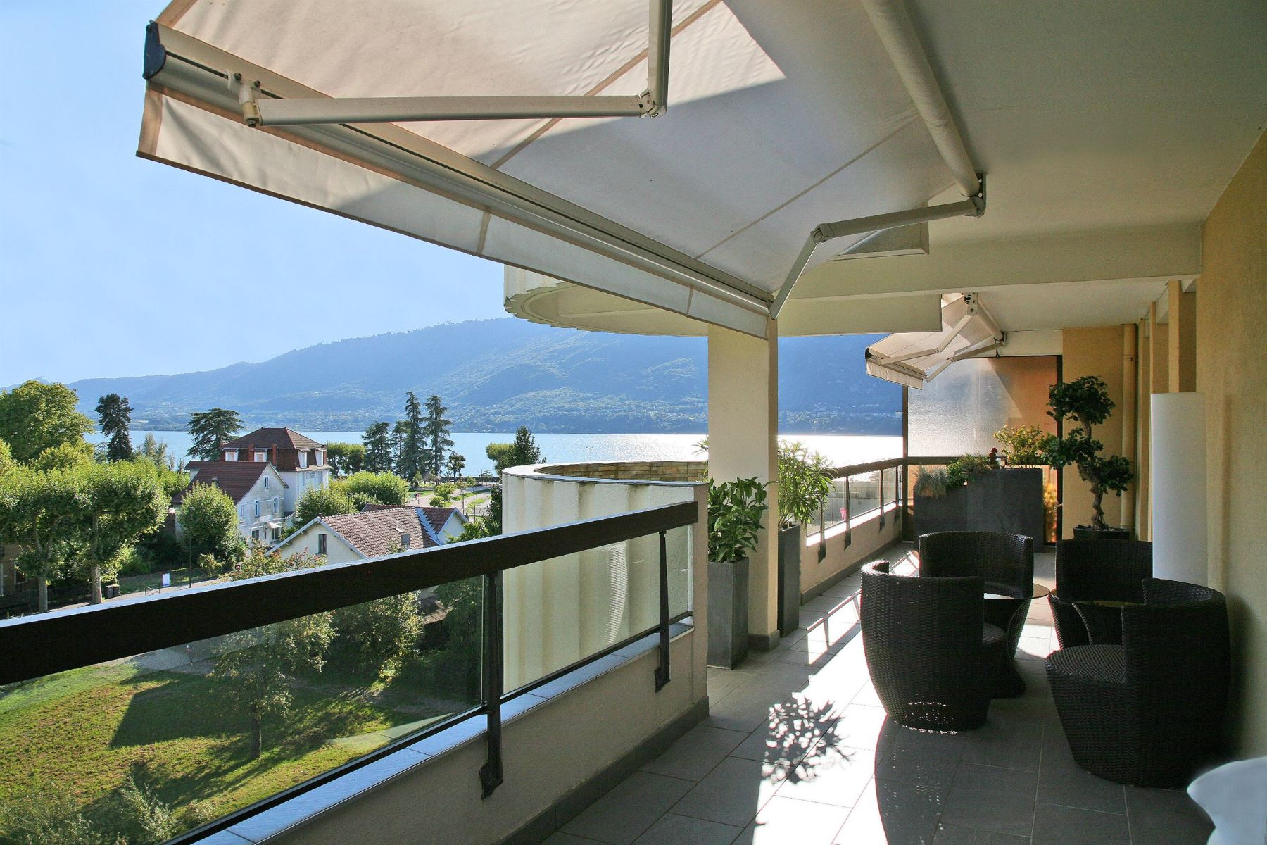 Apartment for Sale at Exclusive : Last floor apartment ovelrooking Lake Bourget Aix Les Bains, Rhone-Alpes, 73100 France