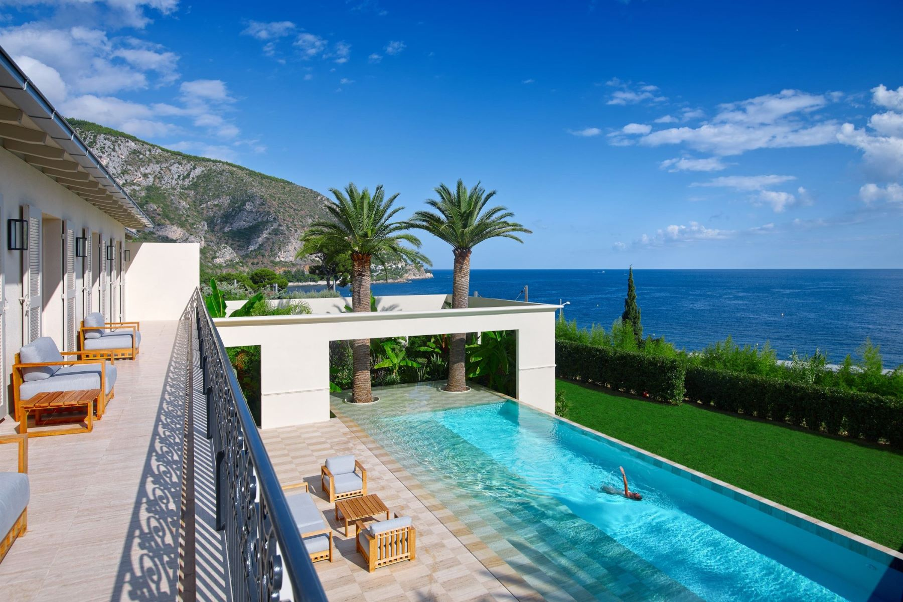 Single Family Home for Sale at Luxurious villa in Èze with tennis court, pool and stunning sea views Eze, Provence-Alpes-Cote D'Azur 06360 France
