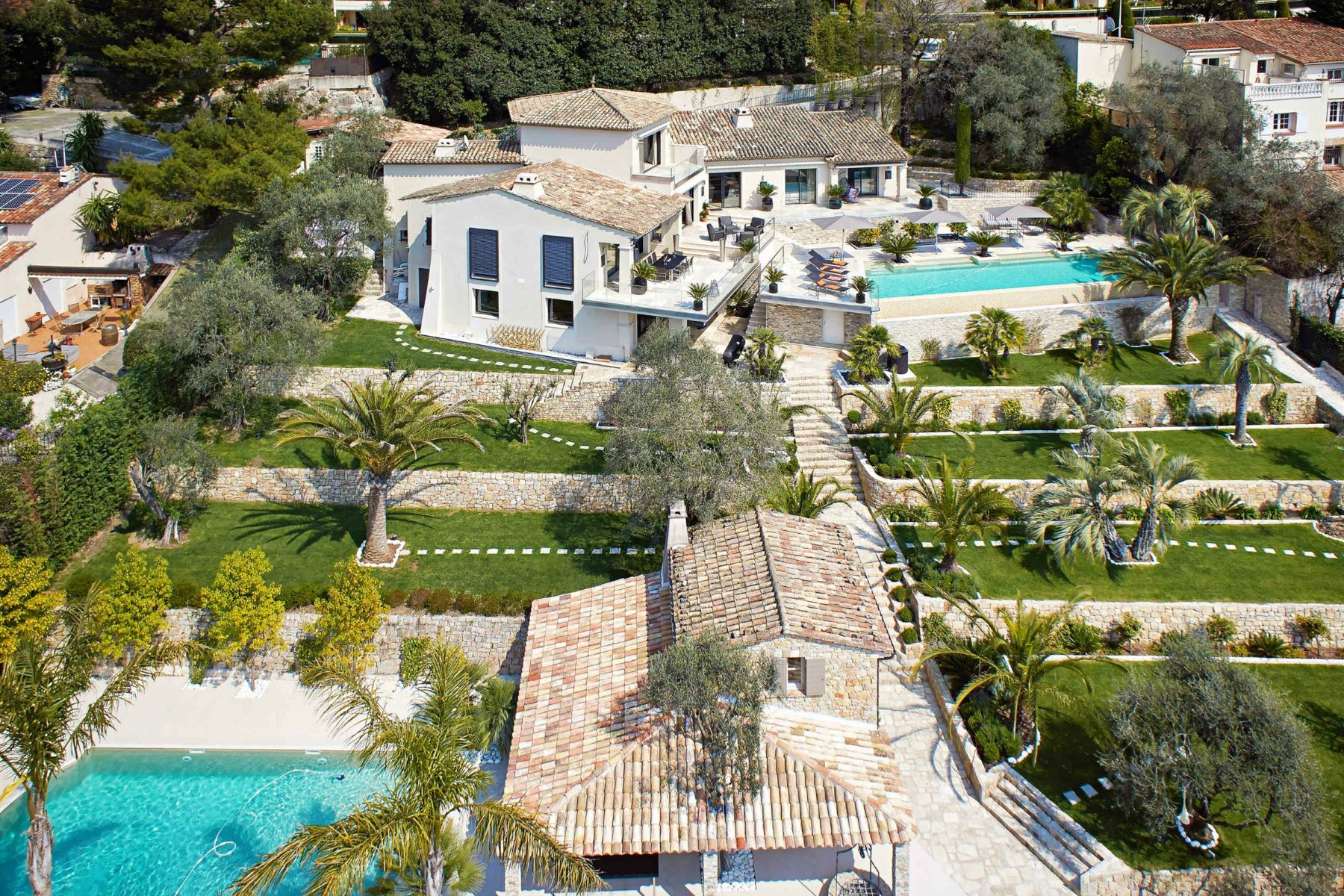 Single Family Home for Sale at Luxury renovated estate in the heights of Cannes Le Cannet, Provence-Alpes-Cote D'Azur, 06110 France