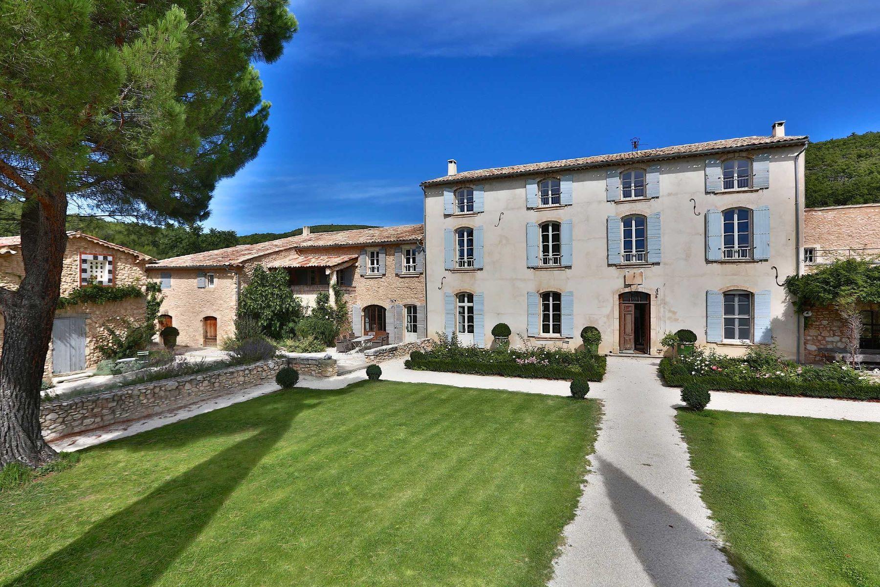 Single Family Home for Rent at Massive Bastide 18th Century for rent in haute Provence Simiane La Rotonde, Provence-Alpes-Cote D'Azur, 04150 France