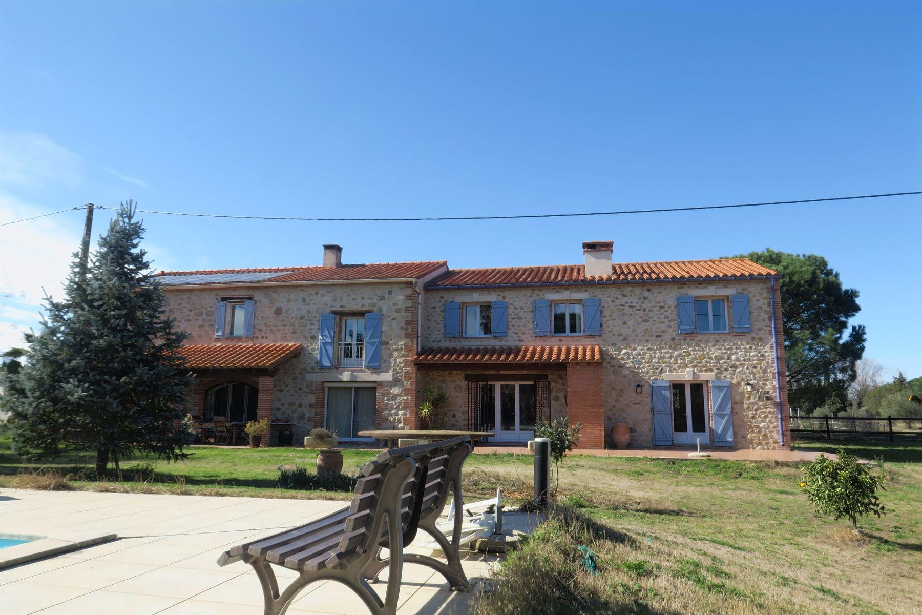 Частный односемейный дом для того Продажа на Secteur Argelès, mas en pierre sur 6ha env Argeles Sur Mer, Лангедок-Руссильон, 66700 Франция