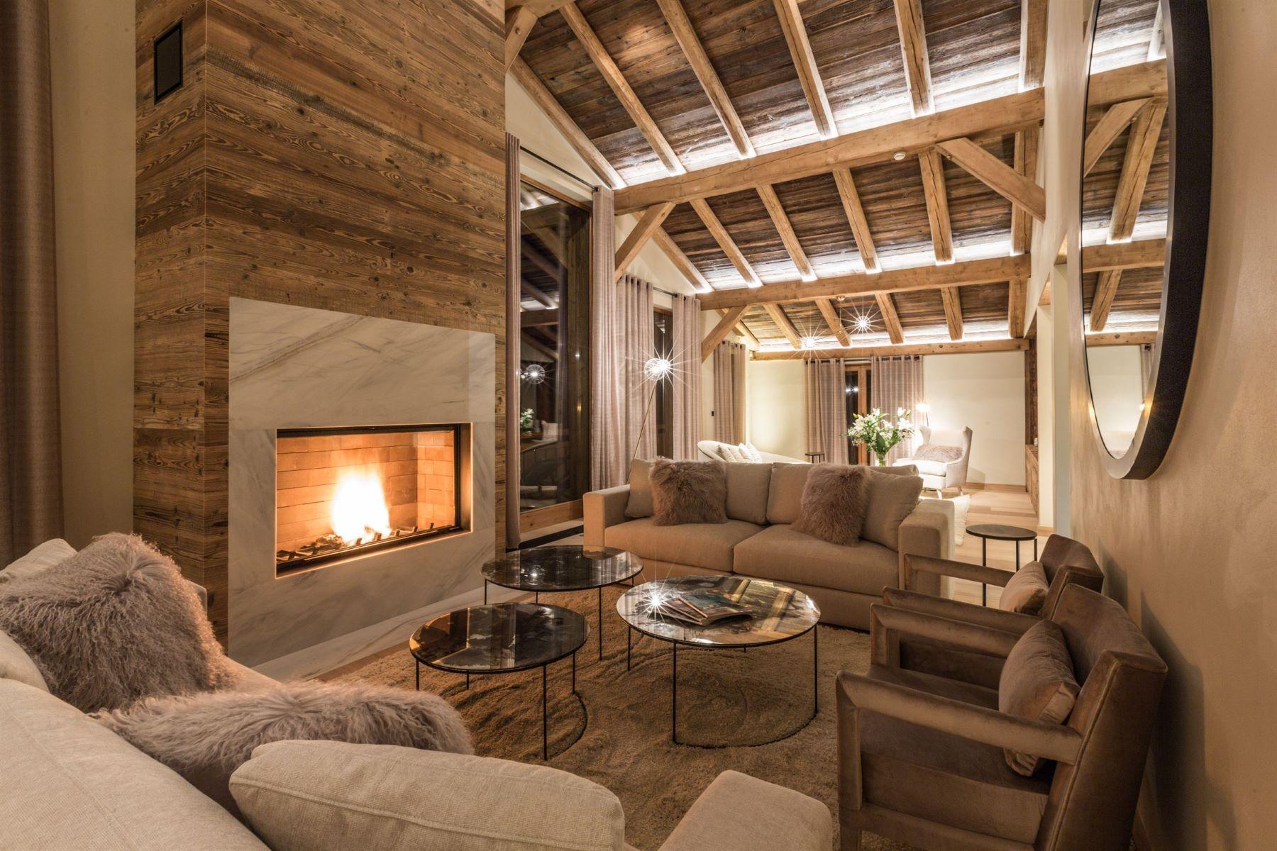 Single Family Home for Sale at Chalet Dali - Luxury chalet close by Megève Megeve, Rhone-Alpes 74120 France