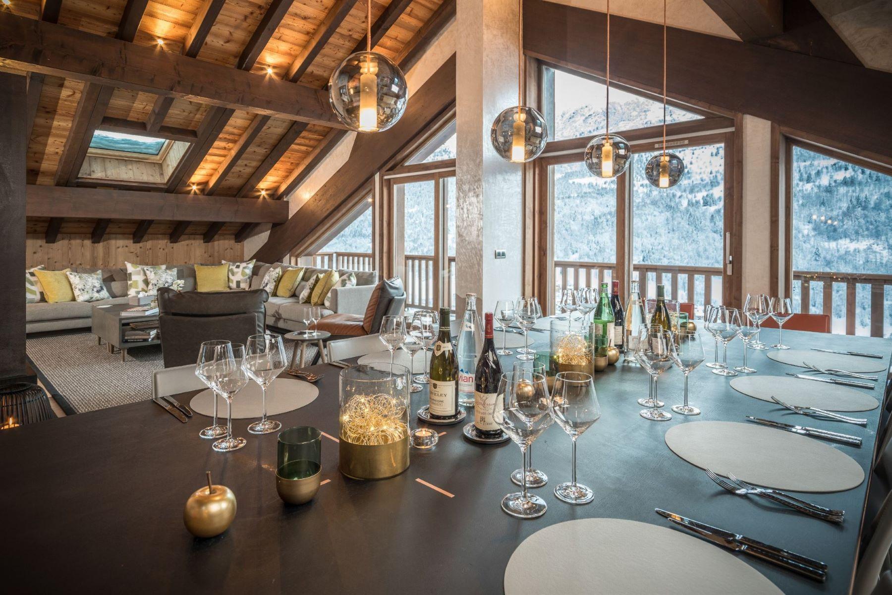 Single Family Homes 용 임대 에 Luxury ski in chalet - catered Meribel, Rhone-Alpes 73550 프랑스