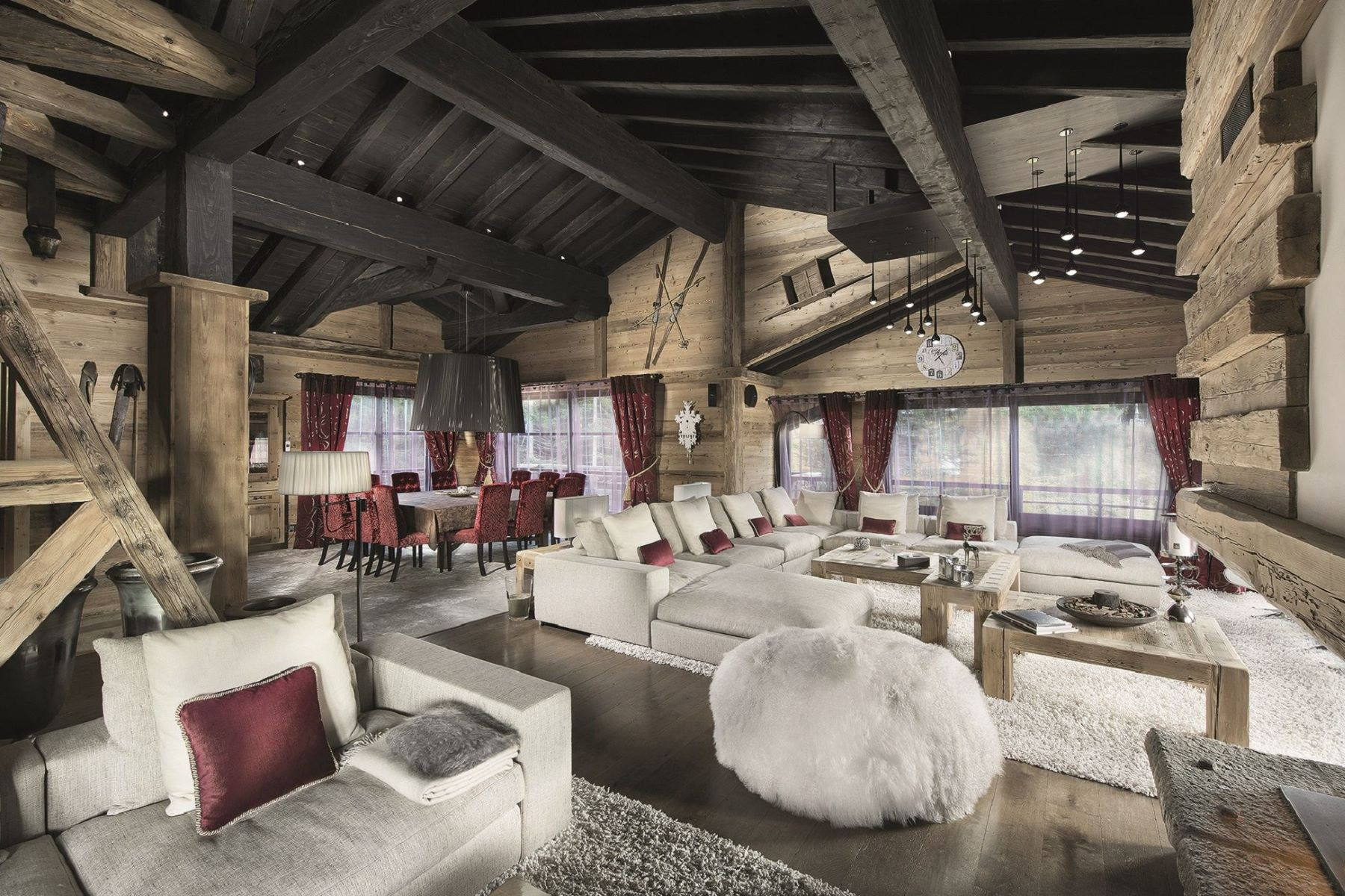 Single Family Home for Rent at Luxury chalet for rent Black Pearl Courchevel, Rhone-Alpes, 73120 France
