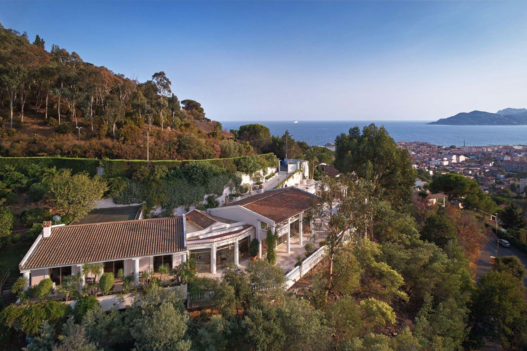 Single Family Homes por un Venta en Exceptional estate in Cannes with panoramic sea view Cannes, Provincia - Alpes - Costa Azul 06400 Francia