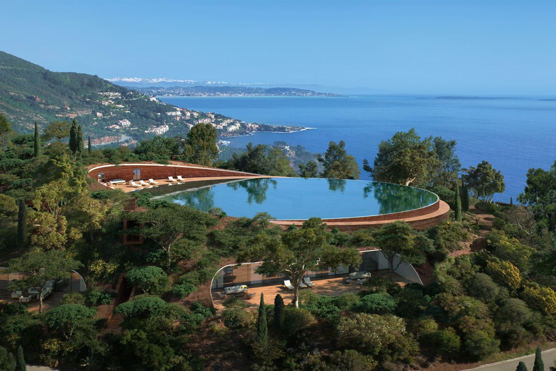 Property 용 매매 에 Théoule Villa - an iconic private estate with panoramic sea views Theoule Sur Mer, 프로벤스 앞ㄹ프스 코테 D'Azur 06590 프랑스