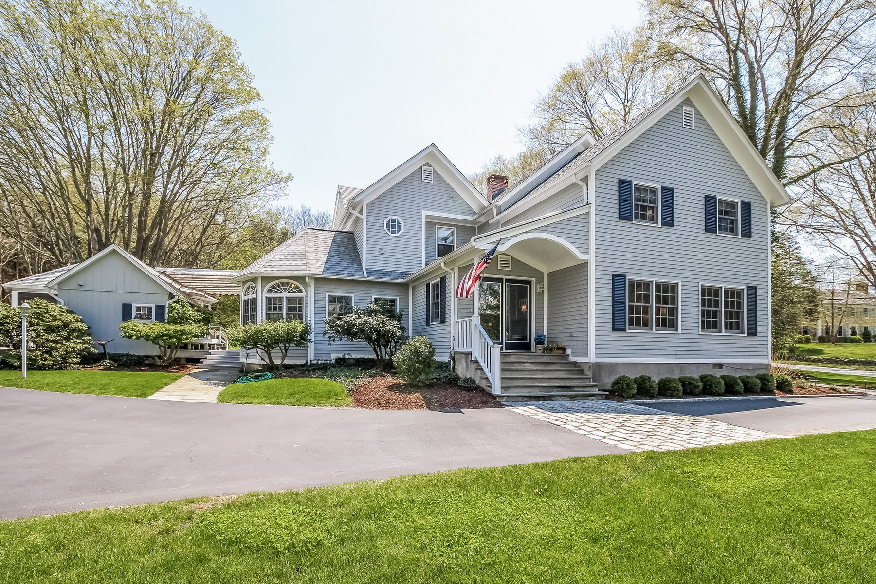 Single Family Home for Sale at History blends with the present in this gracious colonial 4 Johnny Cake Hill Road Old Lyme, Connecticut, 06371 United States