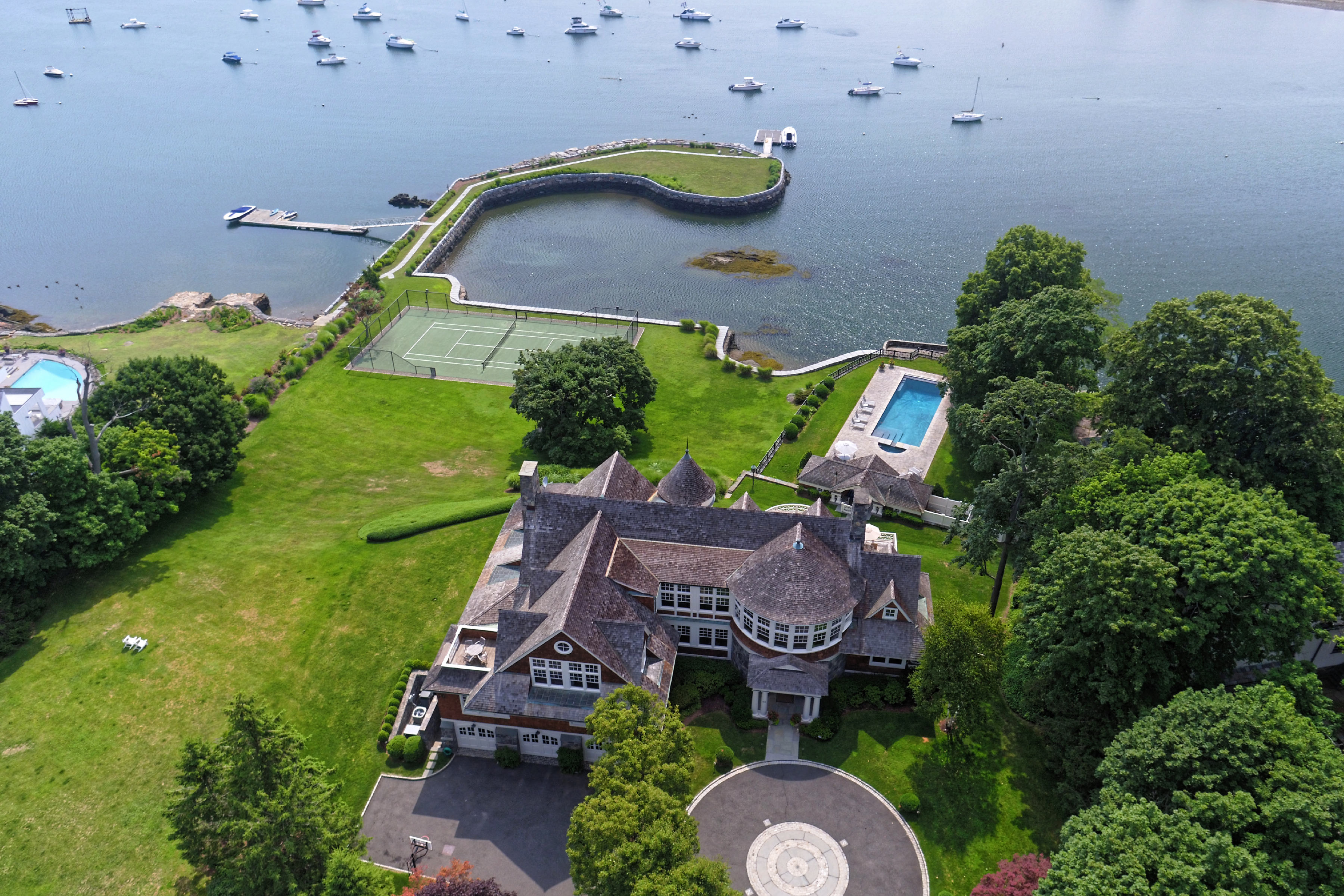 Single Family Home for Sale at Commanding Coastal Estate Rye, New York, 10580 United States