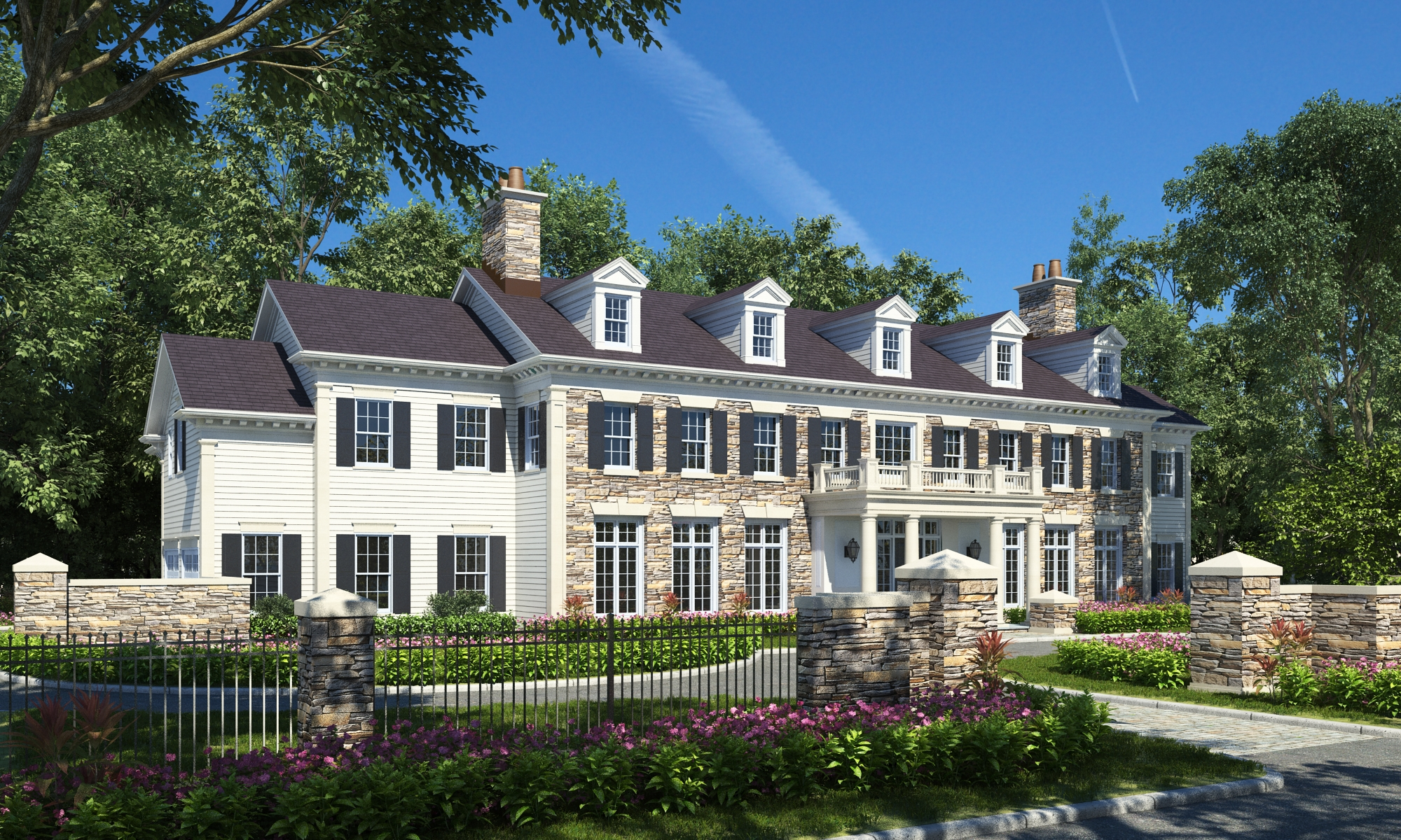 Single Family Home for Sale at Elegant New Luxury Construction 27 Murray Hill Road Scarsdale, New York, 10583 United States