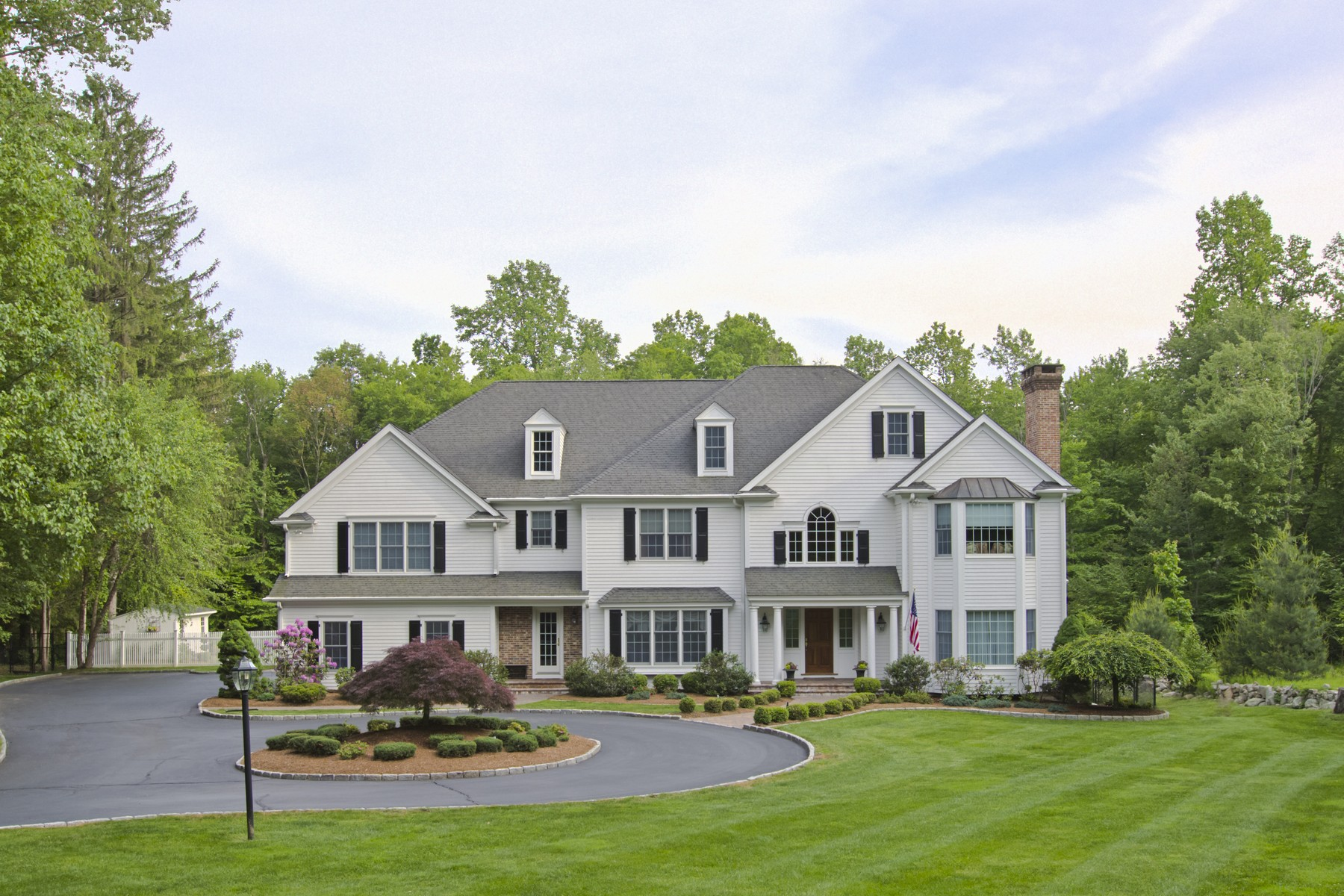 Single Family Home for Sale at Exceptional 6 Bedroom Colonial 6 Eustis Lane Ridgefield, Connecticut 06877 United States