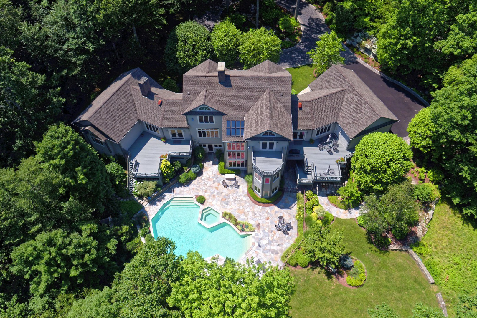 Single Family Home for Sale at A Grande Masterpiece! 328 Erskine Road Stamford, Connecticut 06903 United States