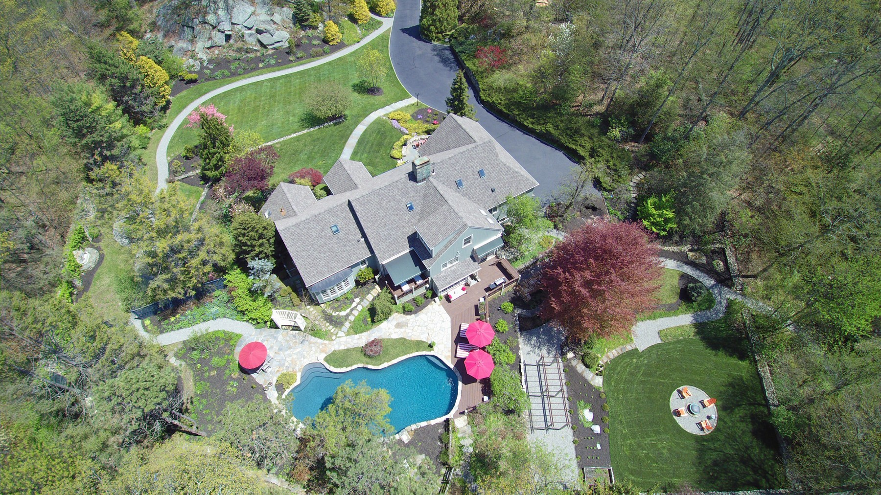 Single Family Home for Sale at One of a Kind Retreat 167 Peaceable Hill Road Ridgefield, Connecticut, 06877 United States