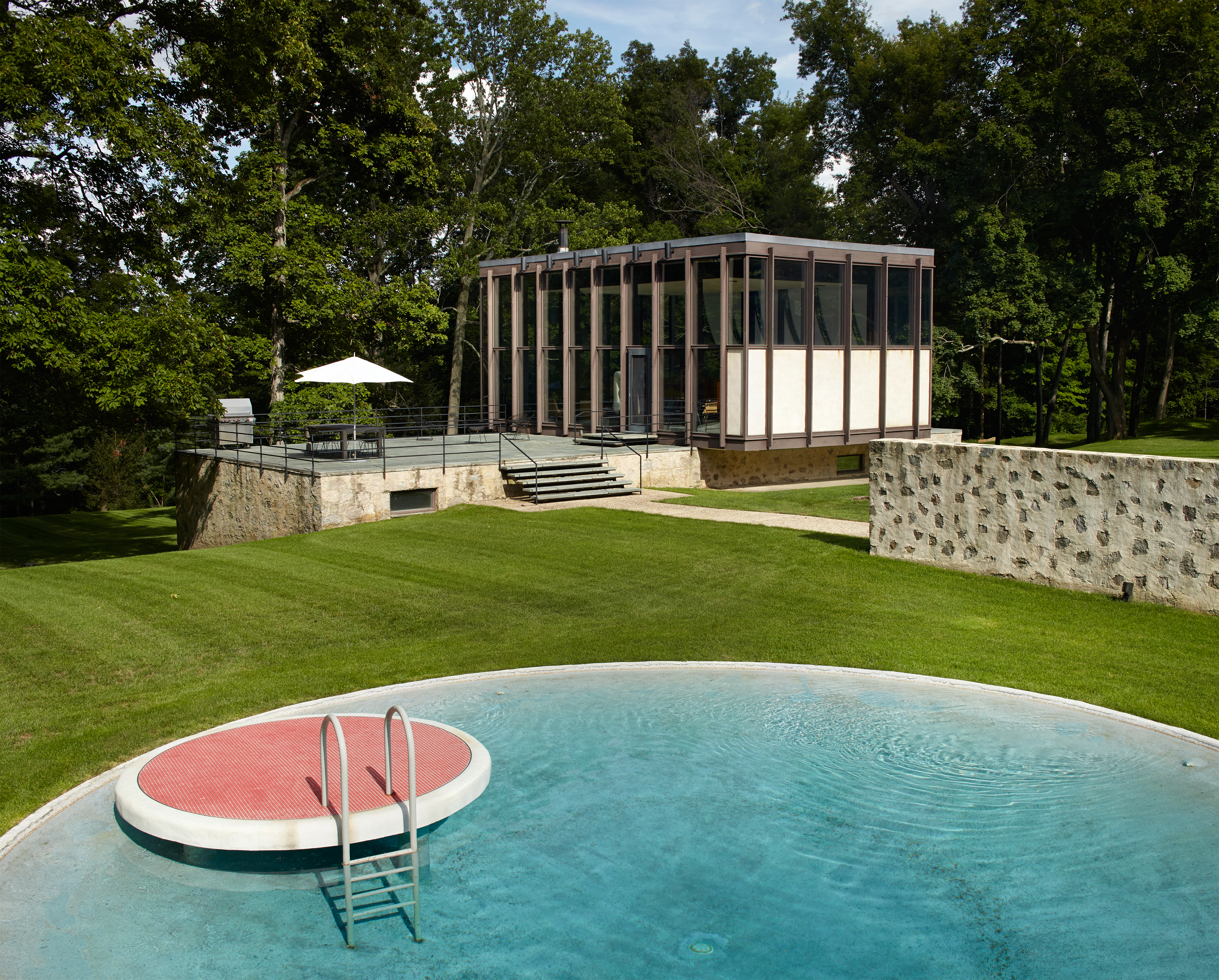 Additional photo for property listing at Stunning Philip Johnson Modern 218 Sleepy Hollow Road New Canaan, Connecticut 06840 United States