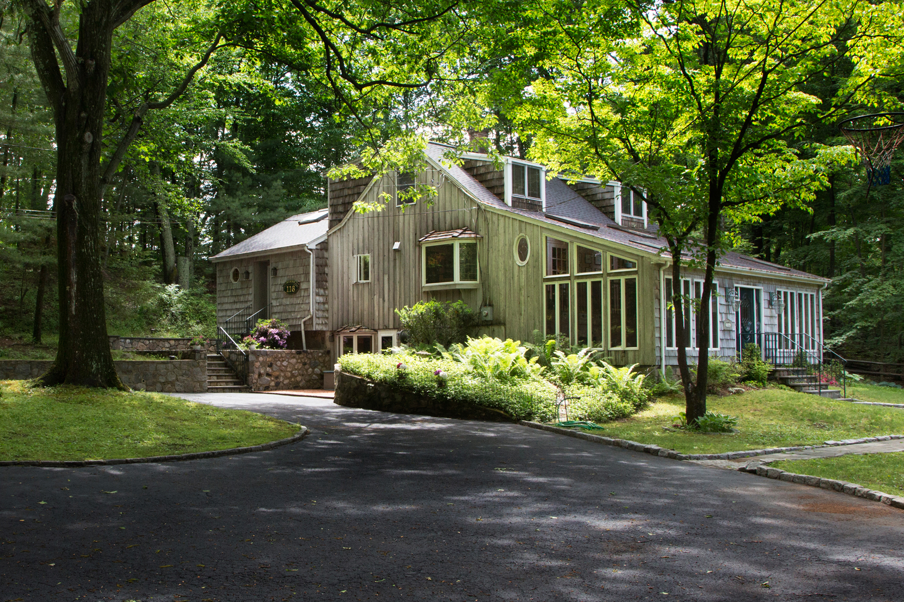 Single Family Home for Sale at Adirondack-Style Contemporary Cape 116 Weed Street New Canaan, Connecticut 06840 United States