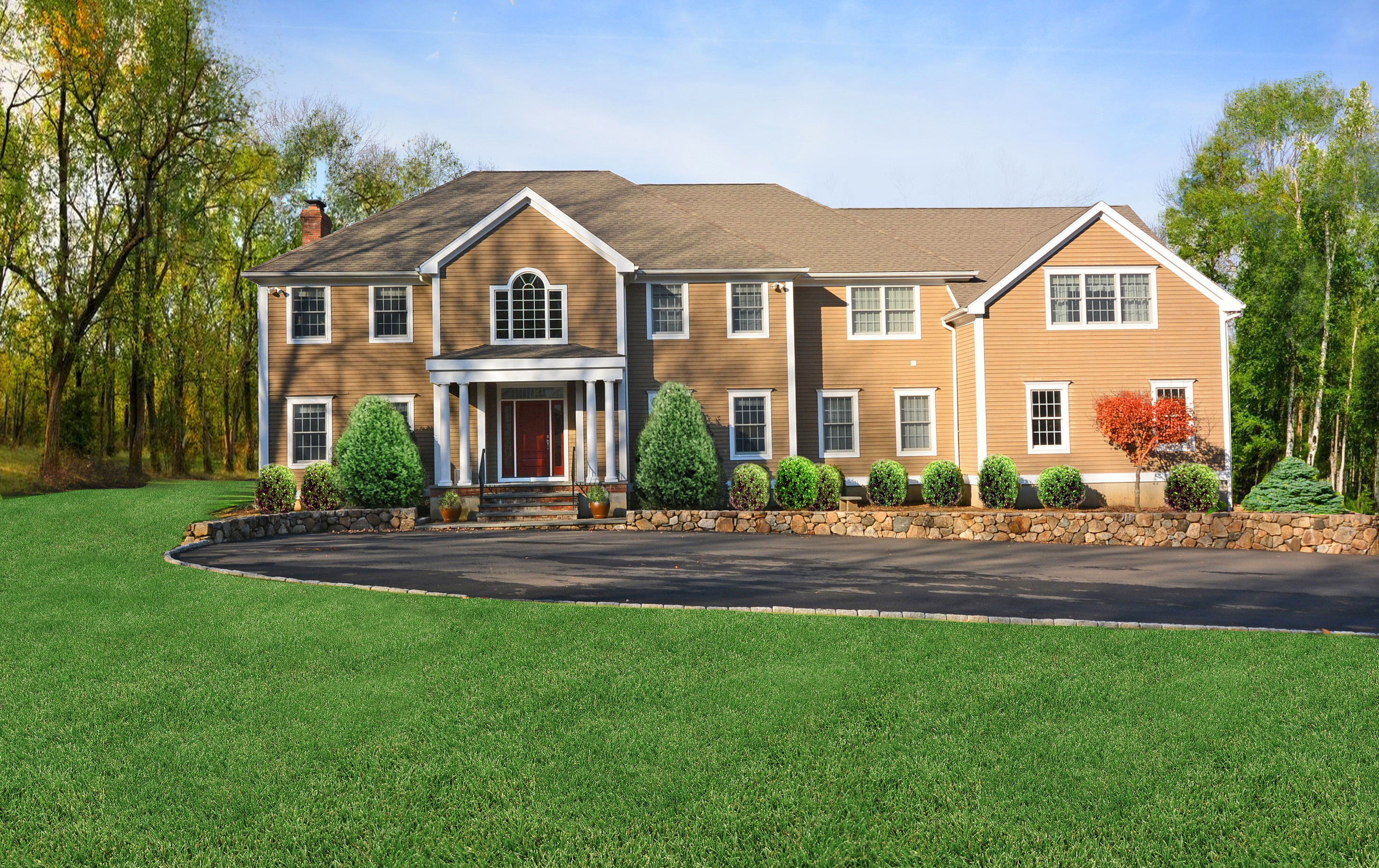 Single Family Home for Sale at Gracious Center Hall Colonial 163 Old Redding Road Redding, Connecticut 06896 United States