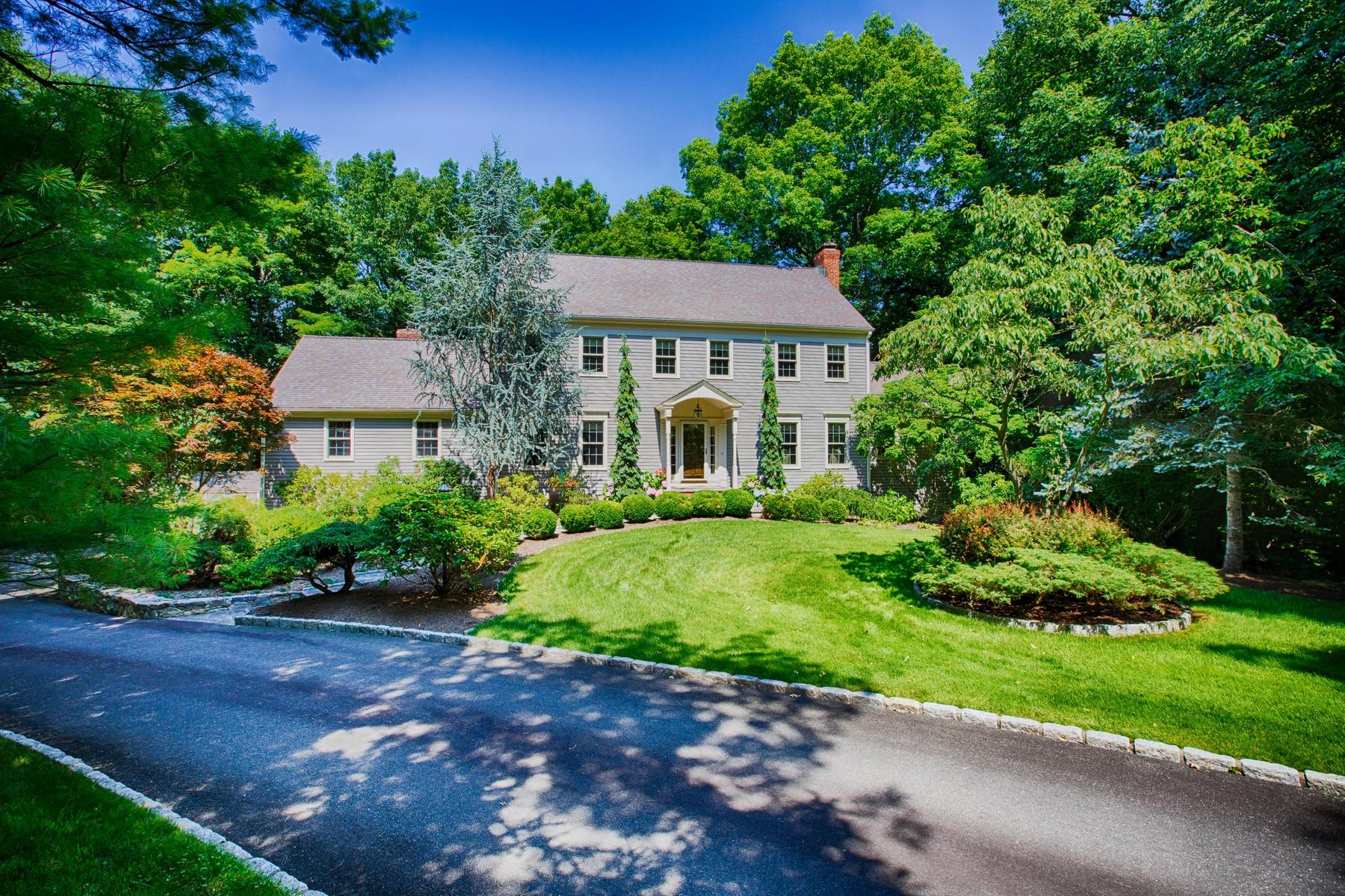 Частный односемейный дом для того Продажа на Westmoreland Estates Colonial 26 Armand Place Ridgefield, Коннектикут 06877 Соединенные Штаты