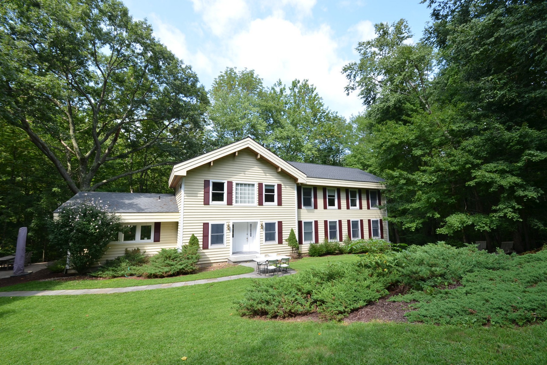 Property For Sale at Nature Lover's Paradise: Post and Beam Home on 4 Acres in Greenfield Hill