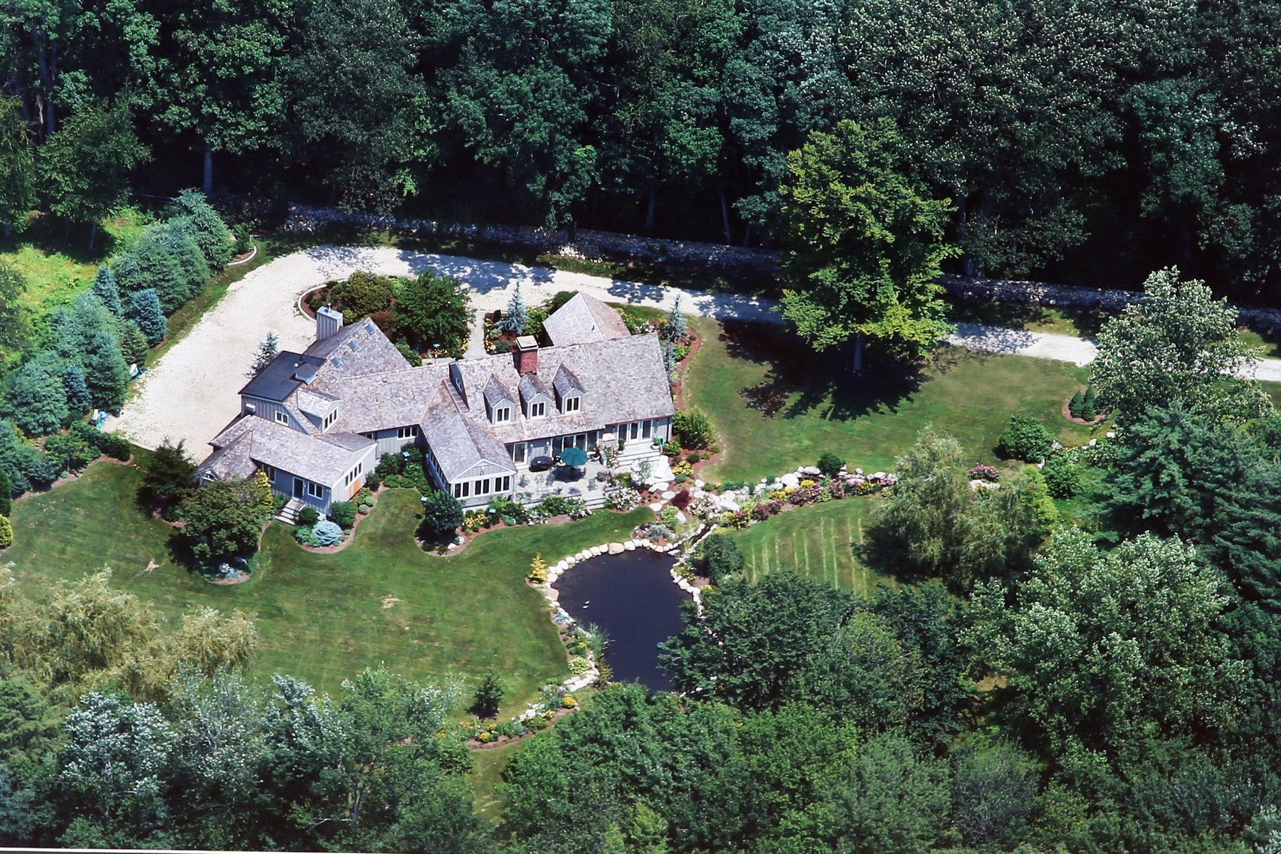 Single Family Home for Sale at Magnificent, Private Gated Custom Home in Greenfield Hill 160 Longmeadow Road Fairfield, Connecticut 06824 United States