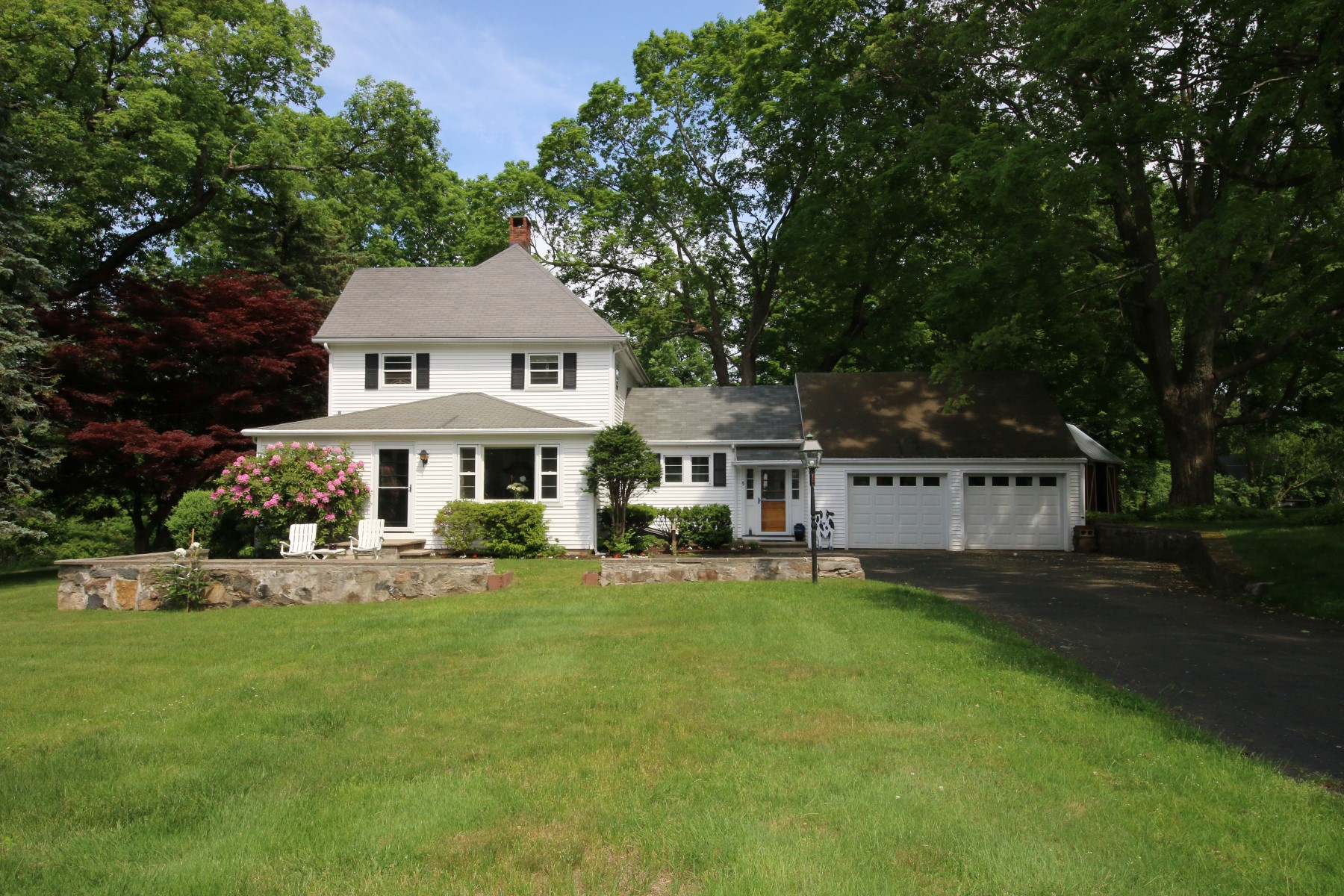 Single Family Home for Sale at Renovated Colonial on Park-like Setting 5 Marys Lane Ridgefield, Connecticut, 06877 United States