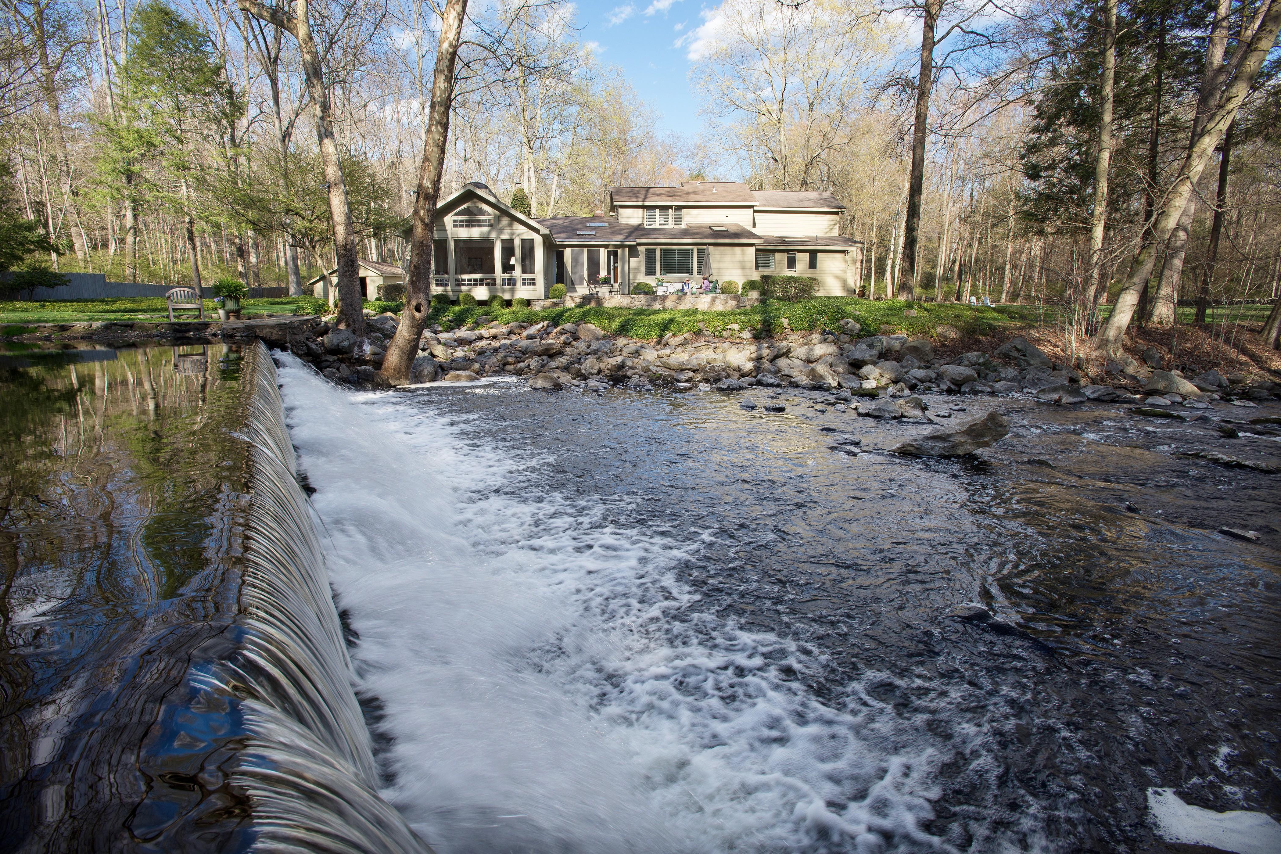 Einfamilienhaus für Verkauf beim Enchanting Storybrook Setting with Waterfall Views 200 Mill Road New Canaan, Connecticut 06840 Vereinigte Staaten