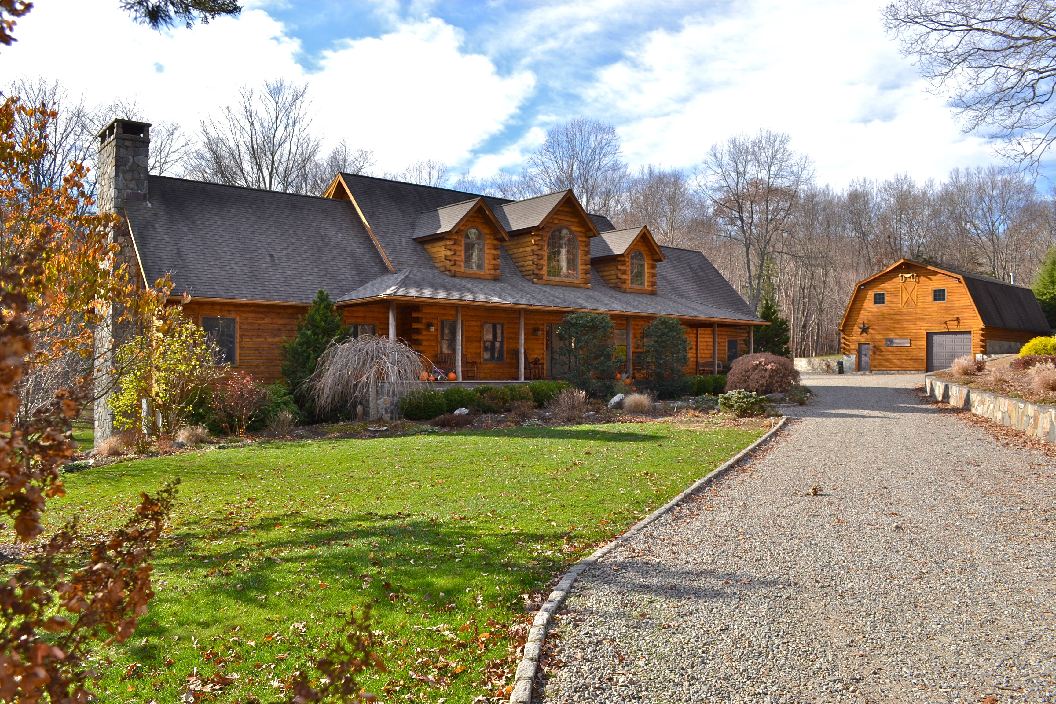 Property For Sale at Custom Northeastern Post And Beam Log Home