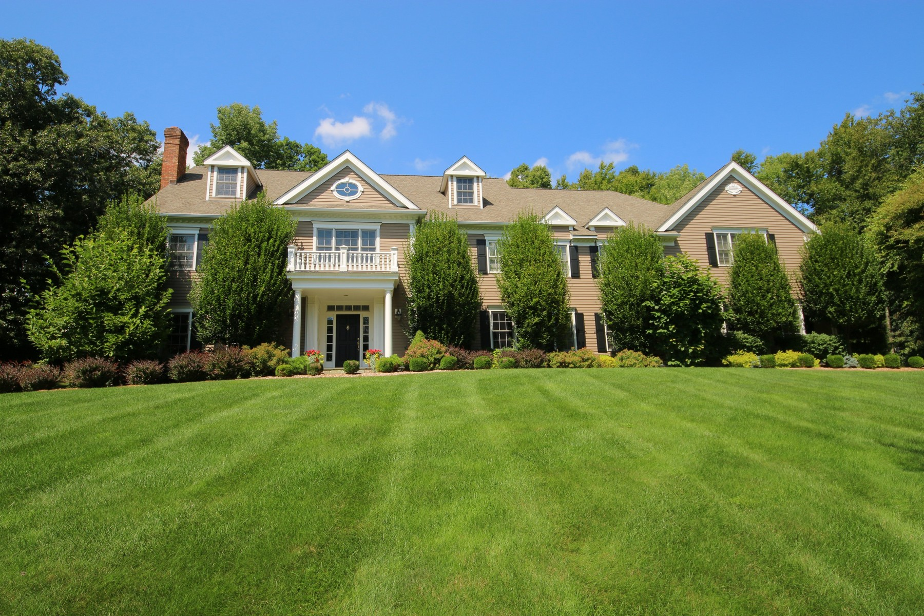 Single Family Home for Sale at Colonial in Coveted Equestrian Estate Area 14 Turtle Ridge Court Ridgefield, Connecticut, 06877 United States
