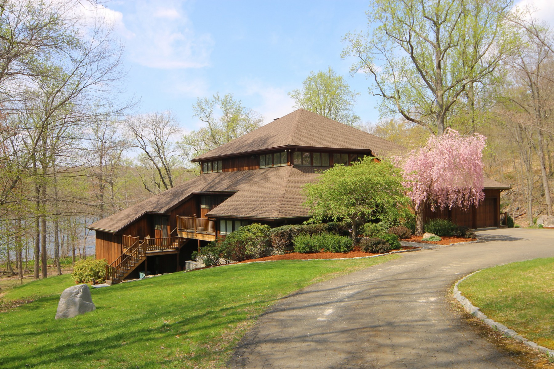Single Family Home for Sale at Majestic Redwood Modern 258 West Mountain Road Ridgefield, Connecticut 06877 United States